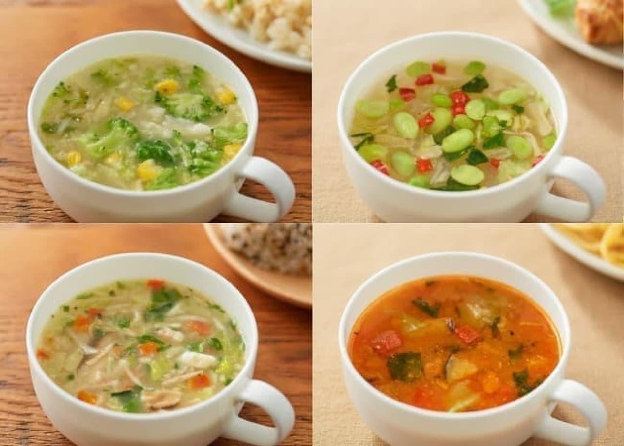 無印良品の「食べるスープ」4種