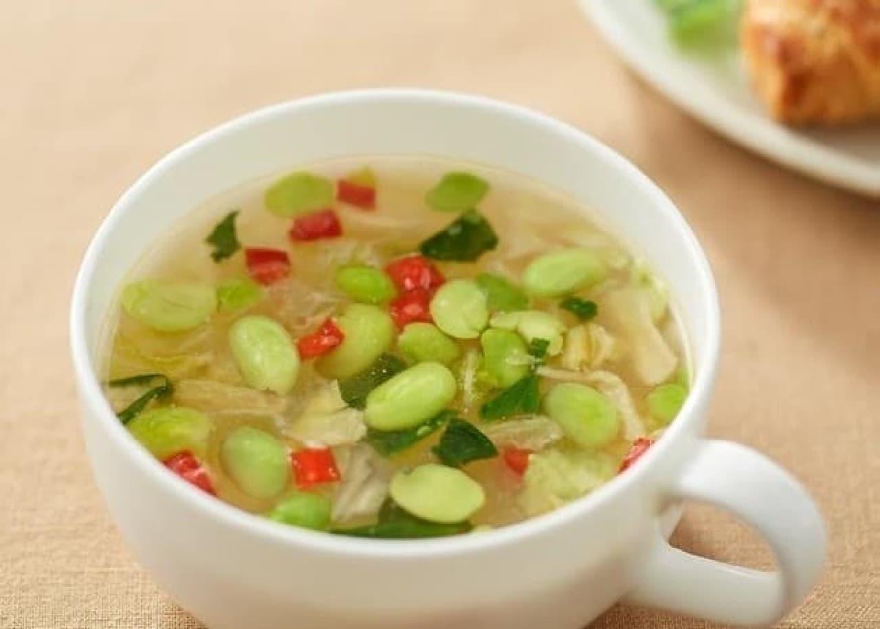 無印良品の「食べるスープ 4種野菜のみそブロススープ」