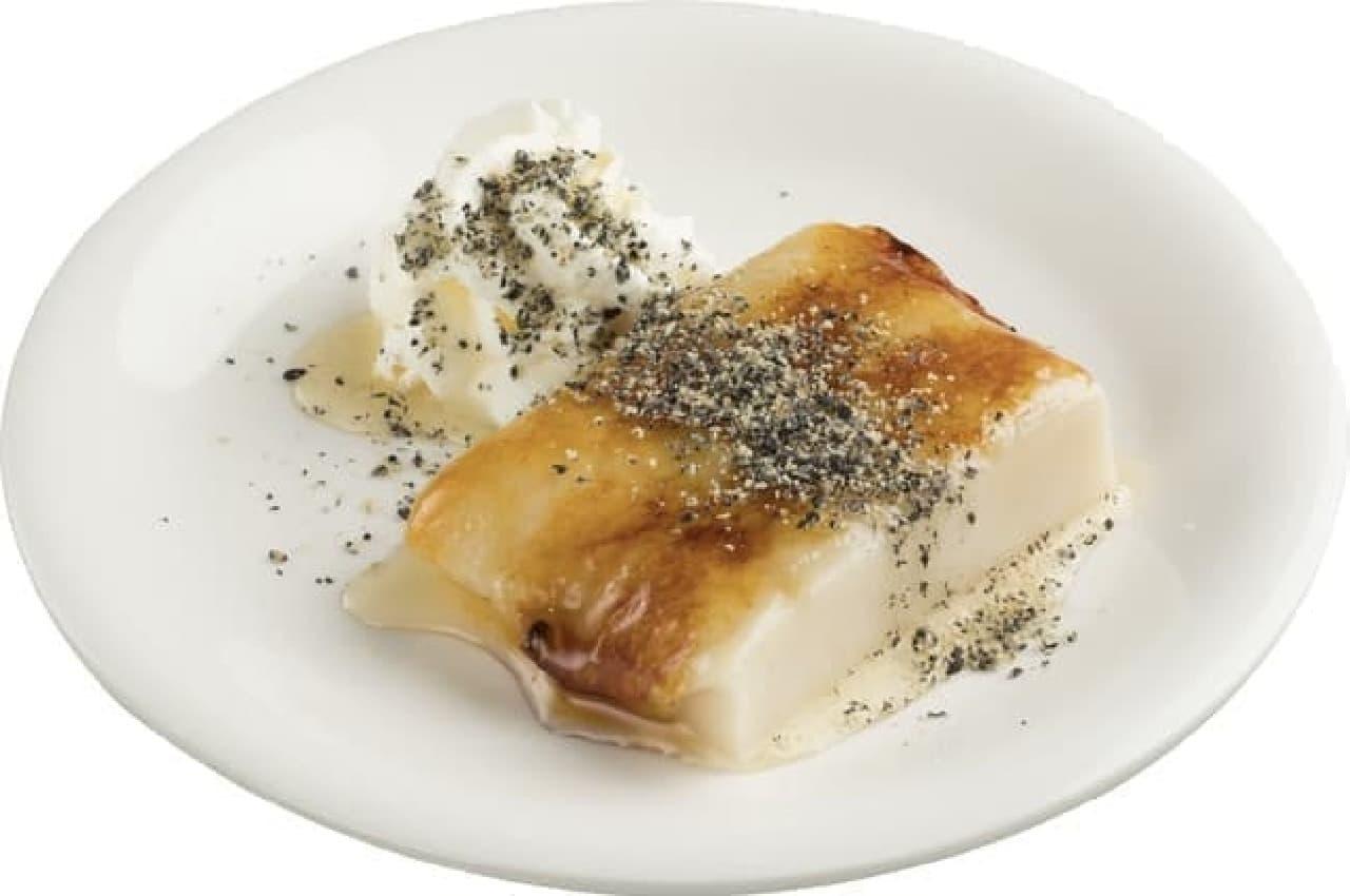スシロー「匠の胡麻豆腐ブリュレ」