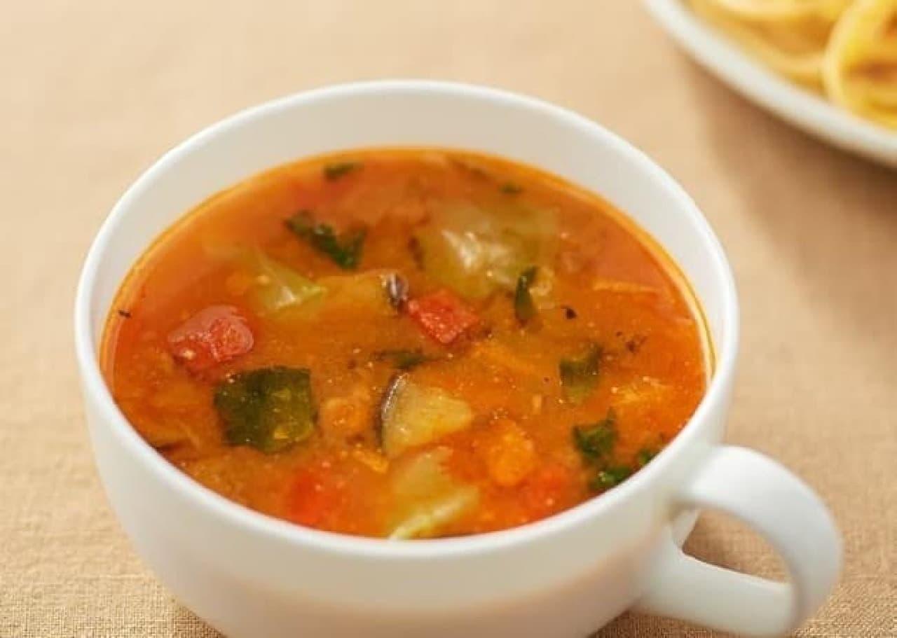 無印良品「食べるスープ 4種野菜のみそトマトスープ」