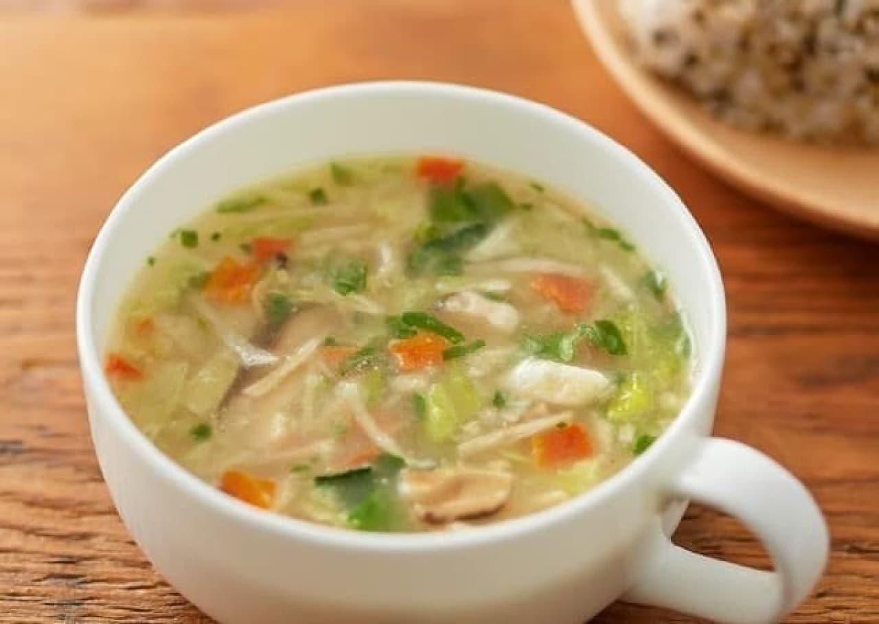 無印良品の「食べるスープ 5種野菜のみそ白湯スープ」