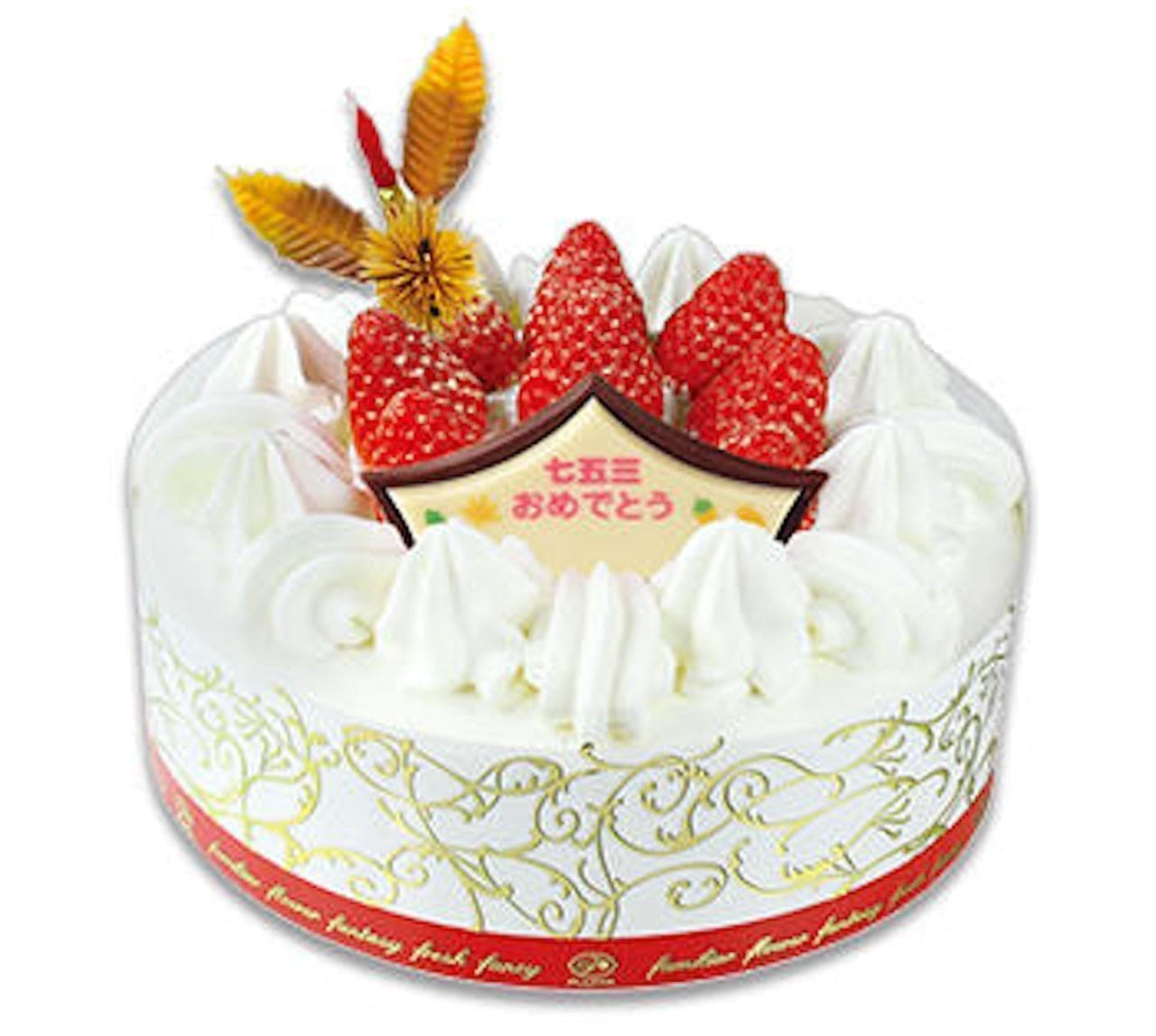 不二家「七五三苺のショートケーキ」