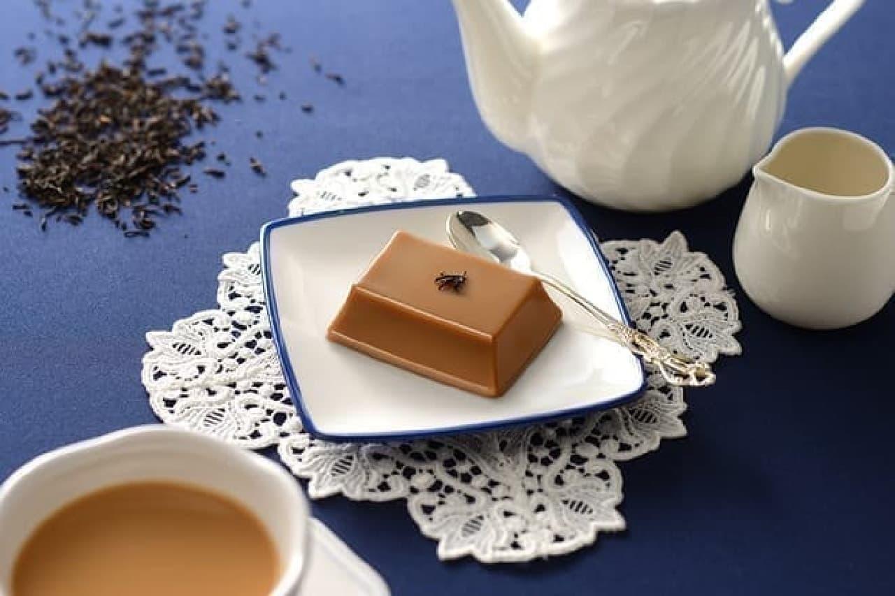 和風デザート 濃い紅茶