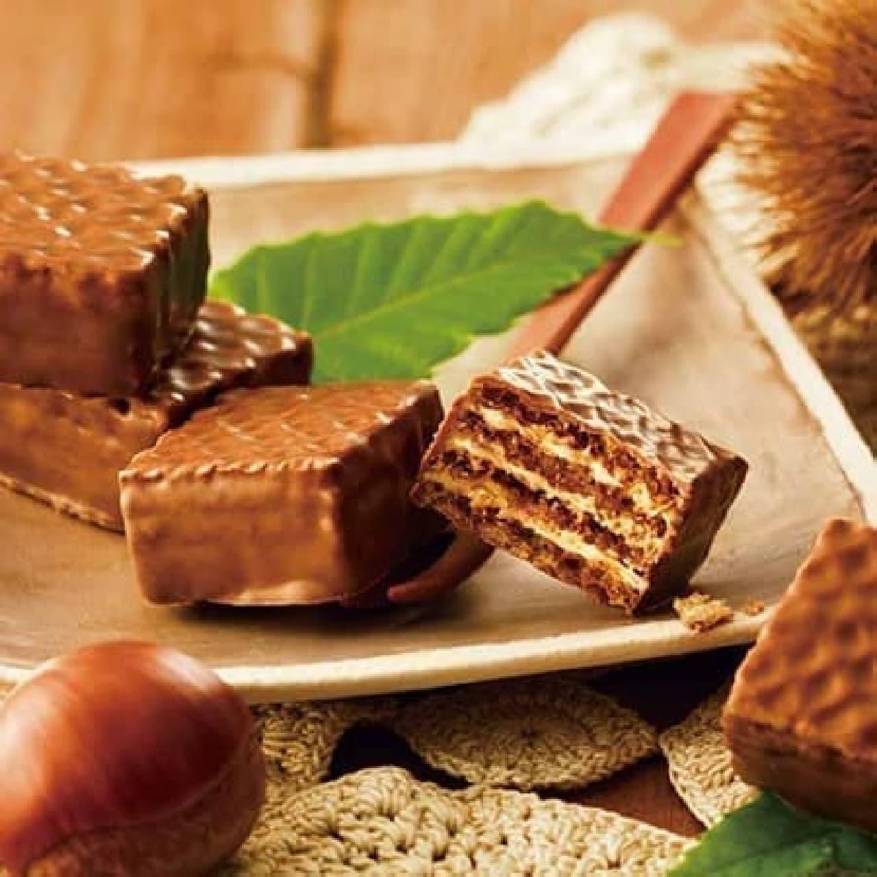 ロイズ「チョコレートウエハース[モンブランクリーム12個入]」