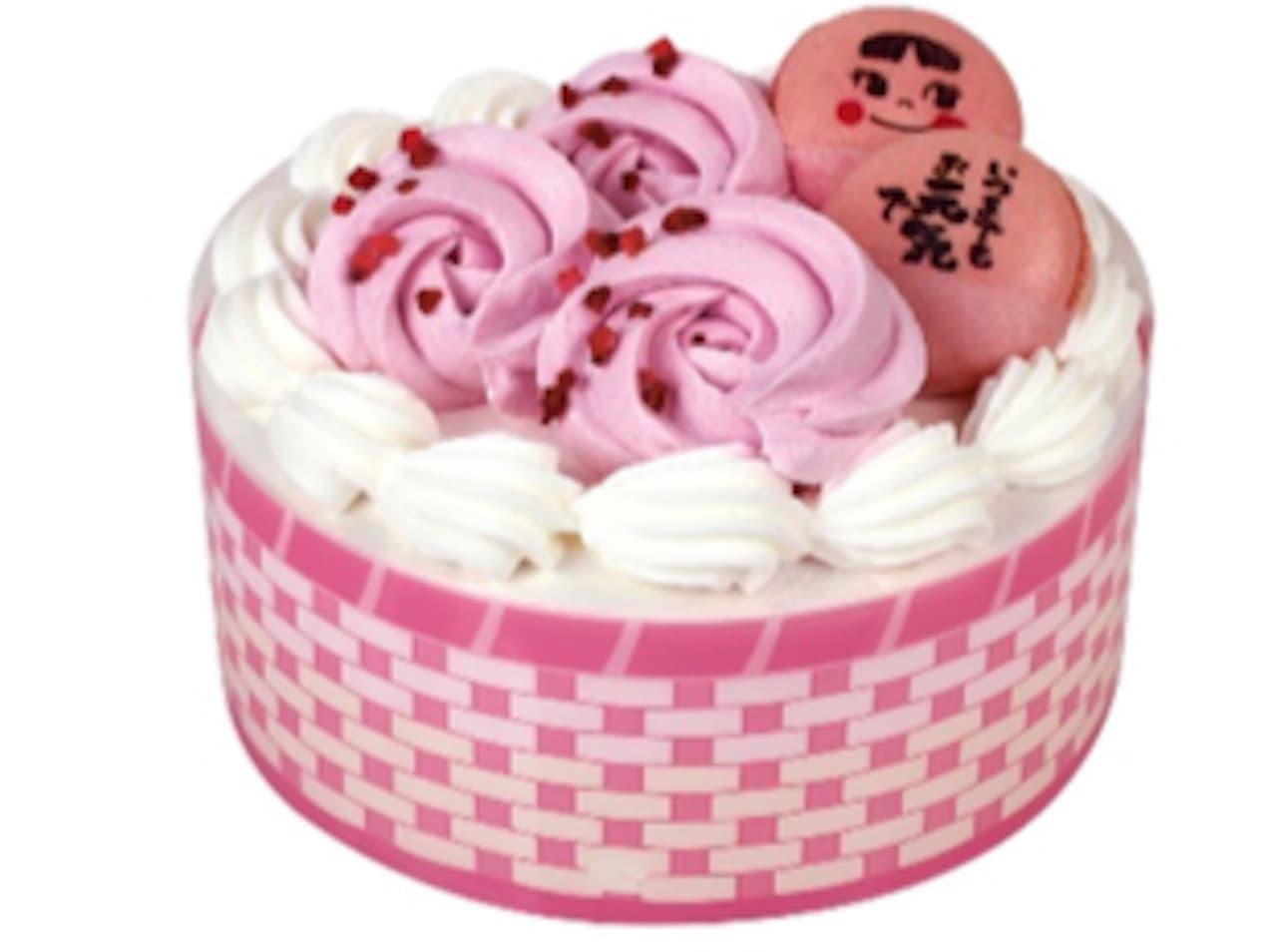 不二家「バラ香るありがとうケーキ」