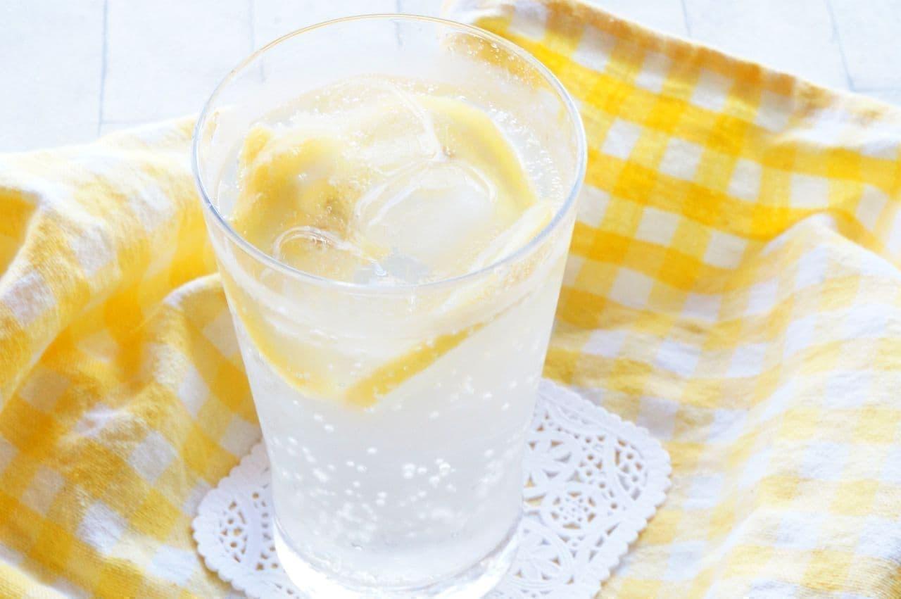 トップバリュ「アンデスのふもとで育ったスライスレモン」入りの炭酸水