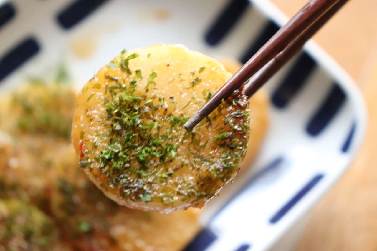 長芋のガーリック醤油ステーキ