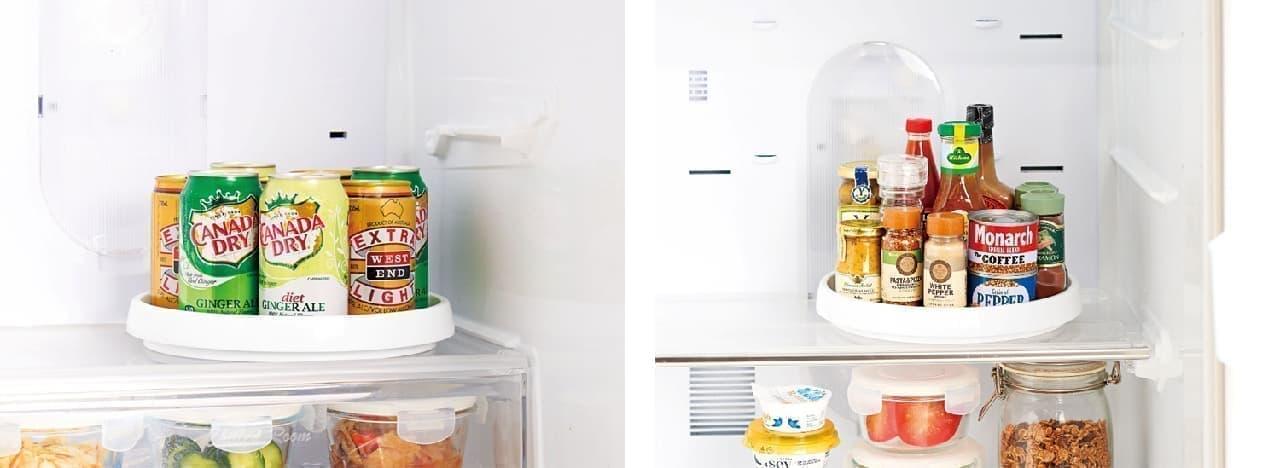 収納グッズ「冷蔵庫の回転台 マワリーナ」