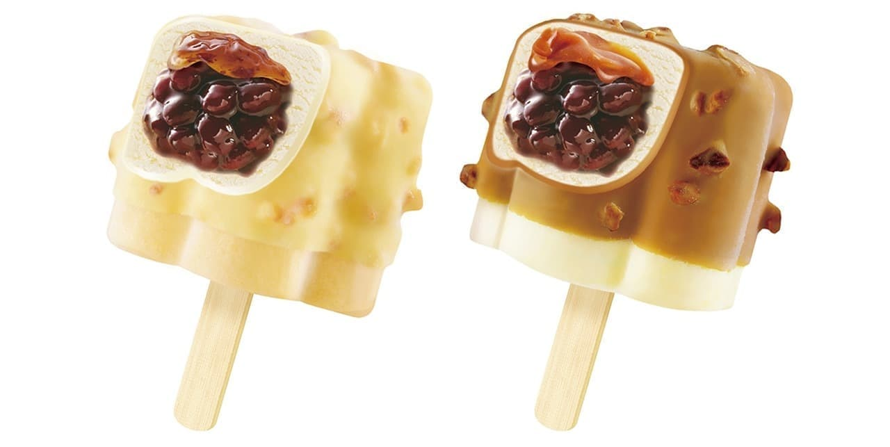 丸永製菓「あいすまんじゅう Dessert モンブラン」と「あいすまんじゅう Dessert バターキャラメル」