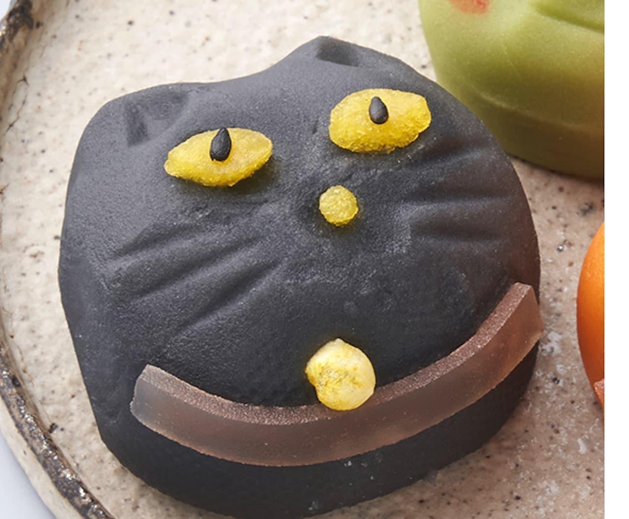 シャトレーゼ「創作和菓子 ハロウィン 黒猫」