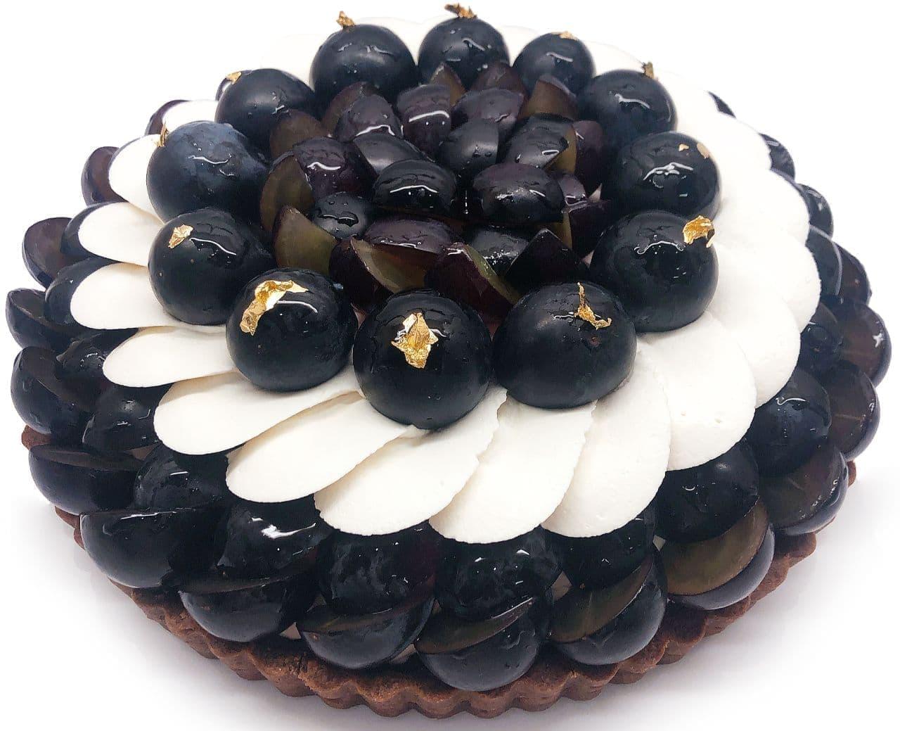 カフェコムサにぶどうの日限定ケーキ