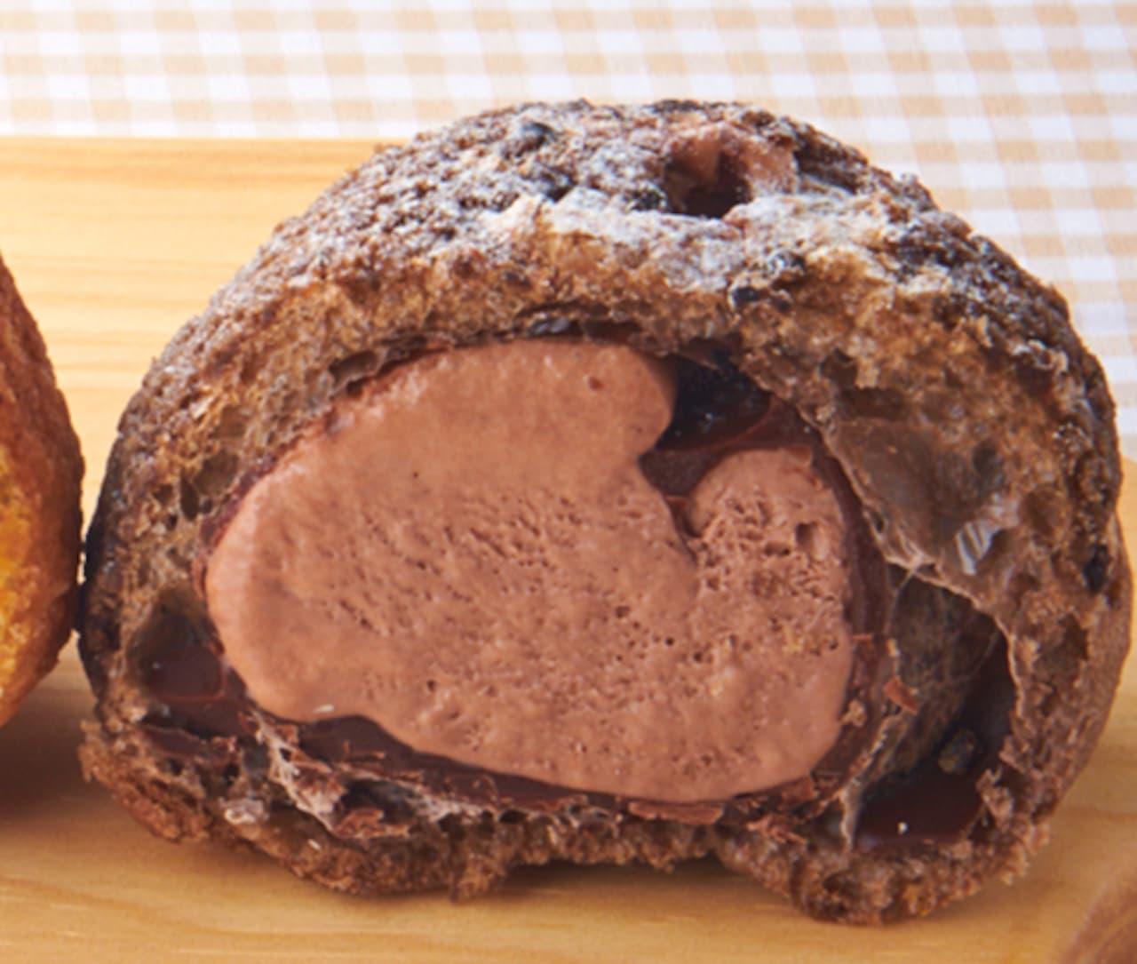 シャトレーゼ「デザートクッキーシューアイス ベルギーショコラ」