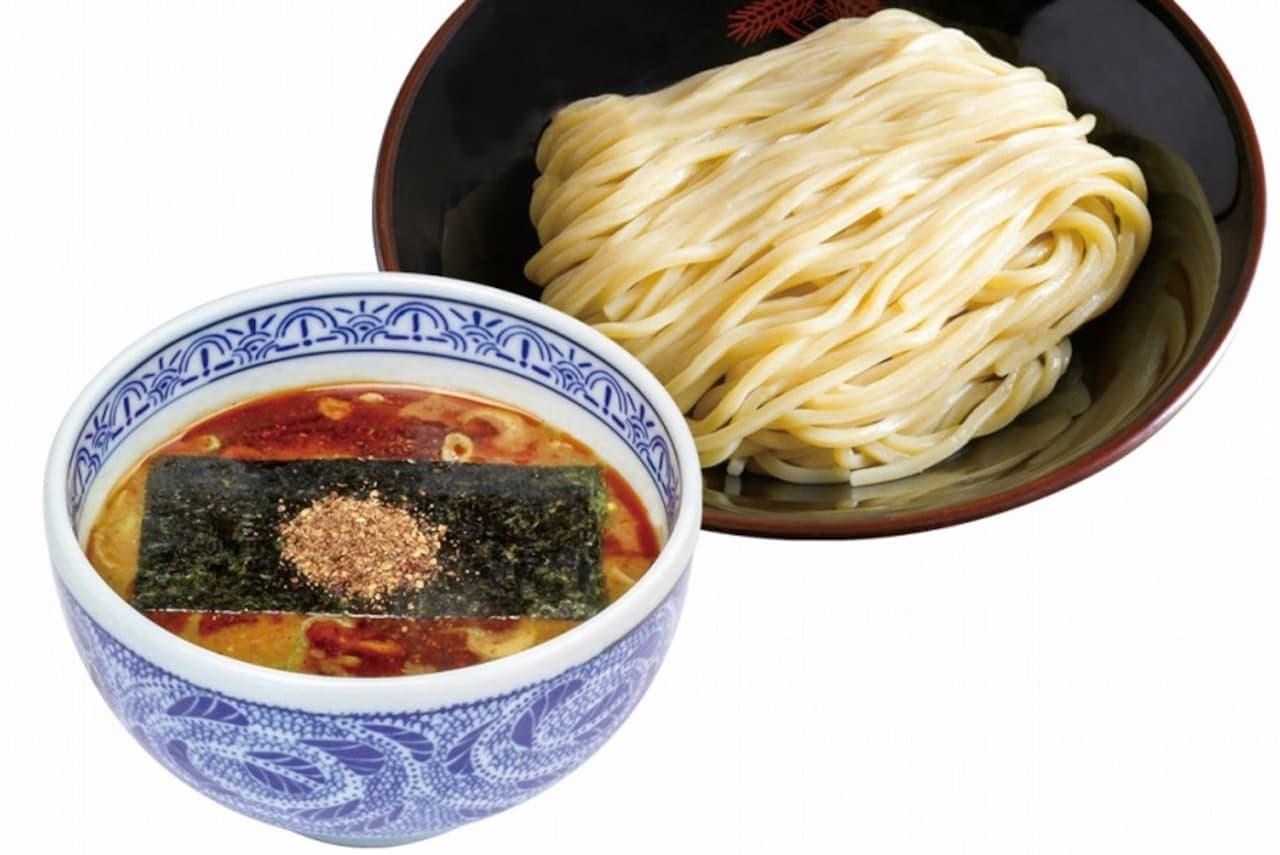 三田製麺所のシビレメニュー「山椒つけ麺」