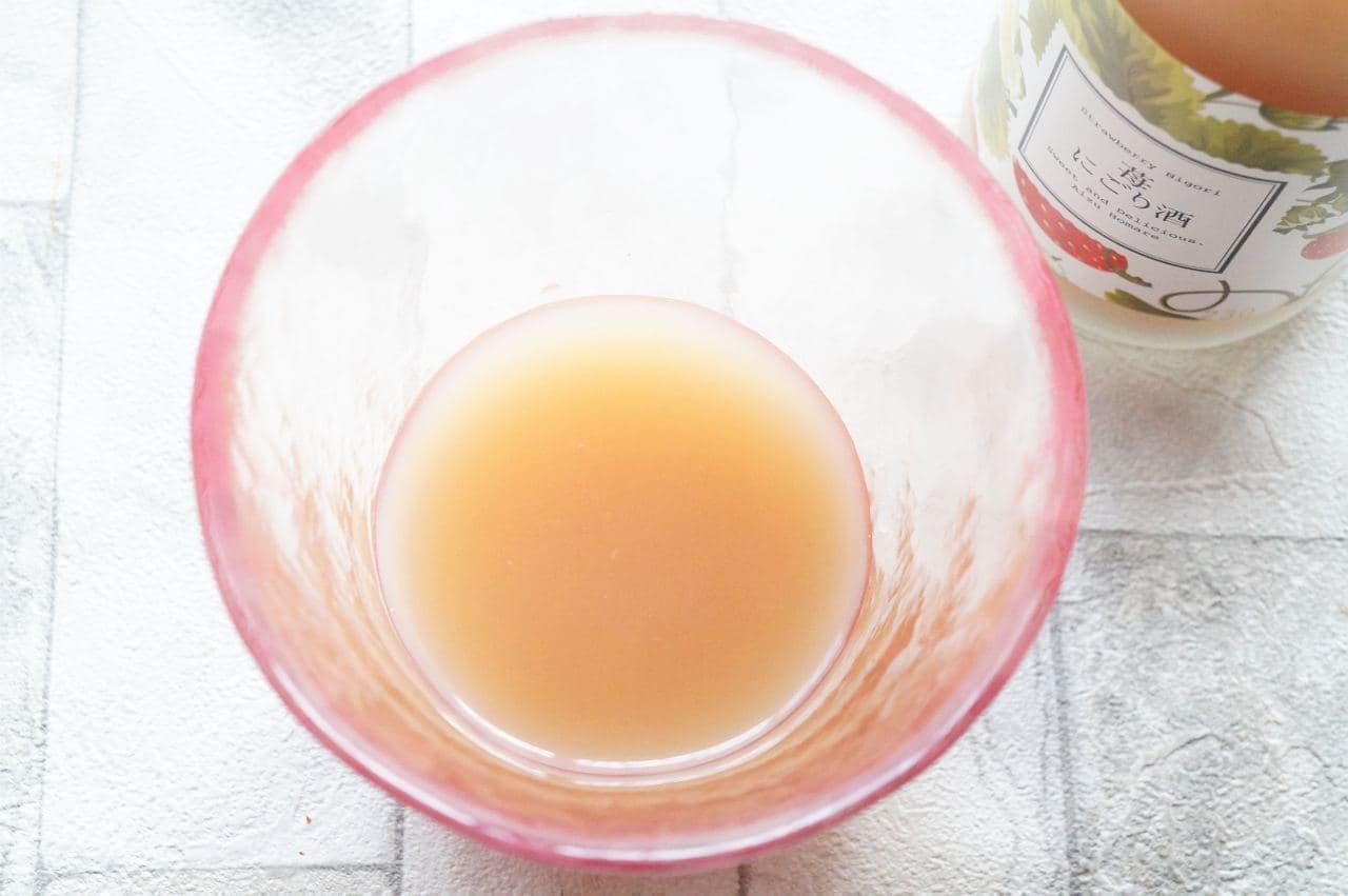 会津ほまれの「苺にごり酒」