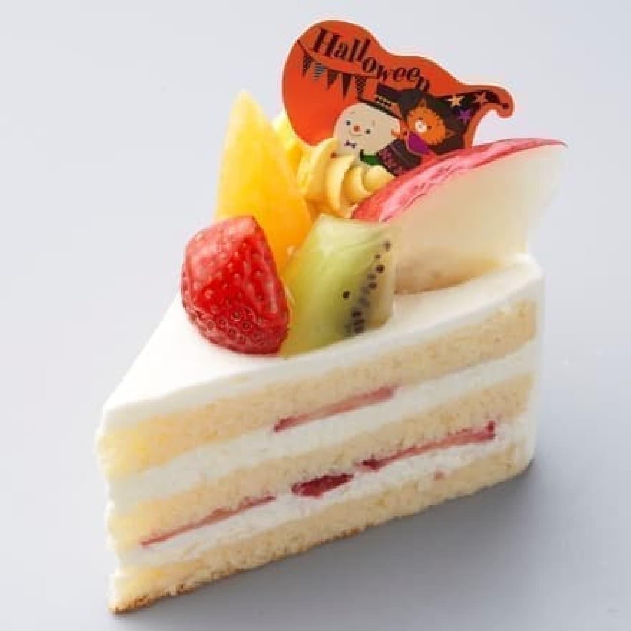 シャトレーゼ「ハロウィン プレミアム純生クリームショートケーキ」