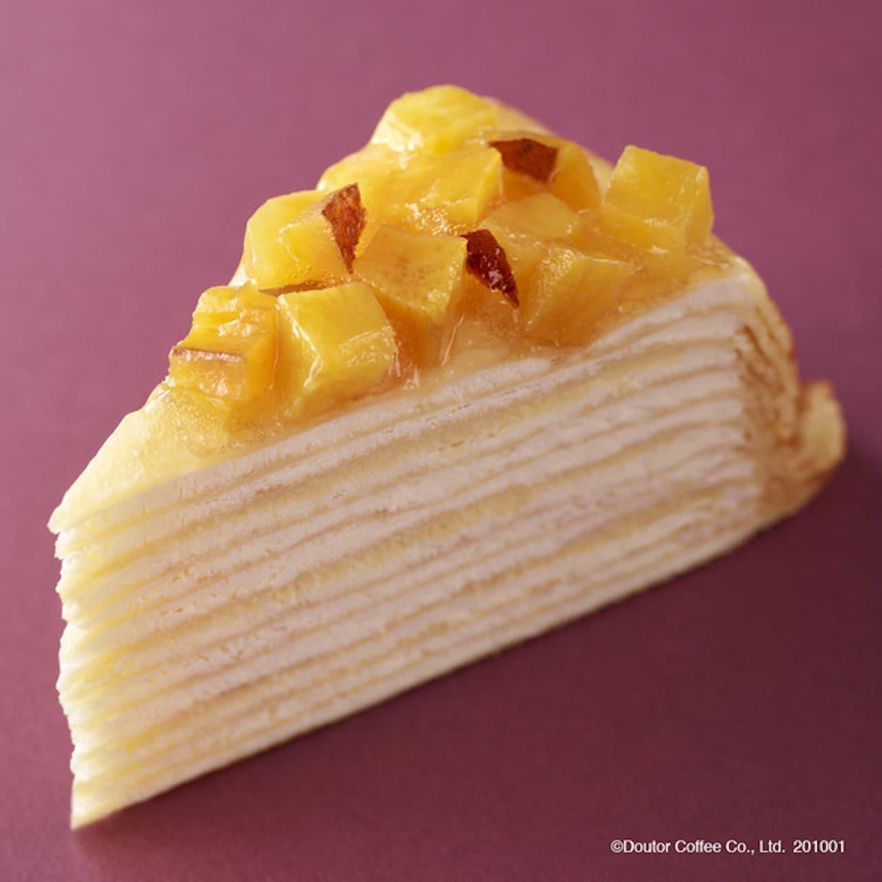 新作ケーキ「安納芋のミルクレープ」ドトールから