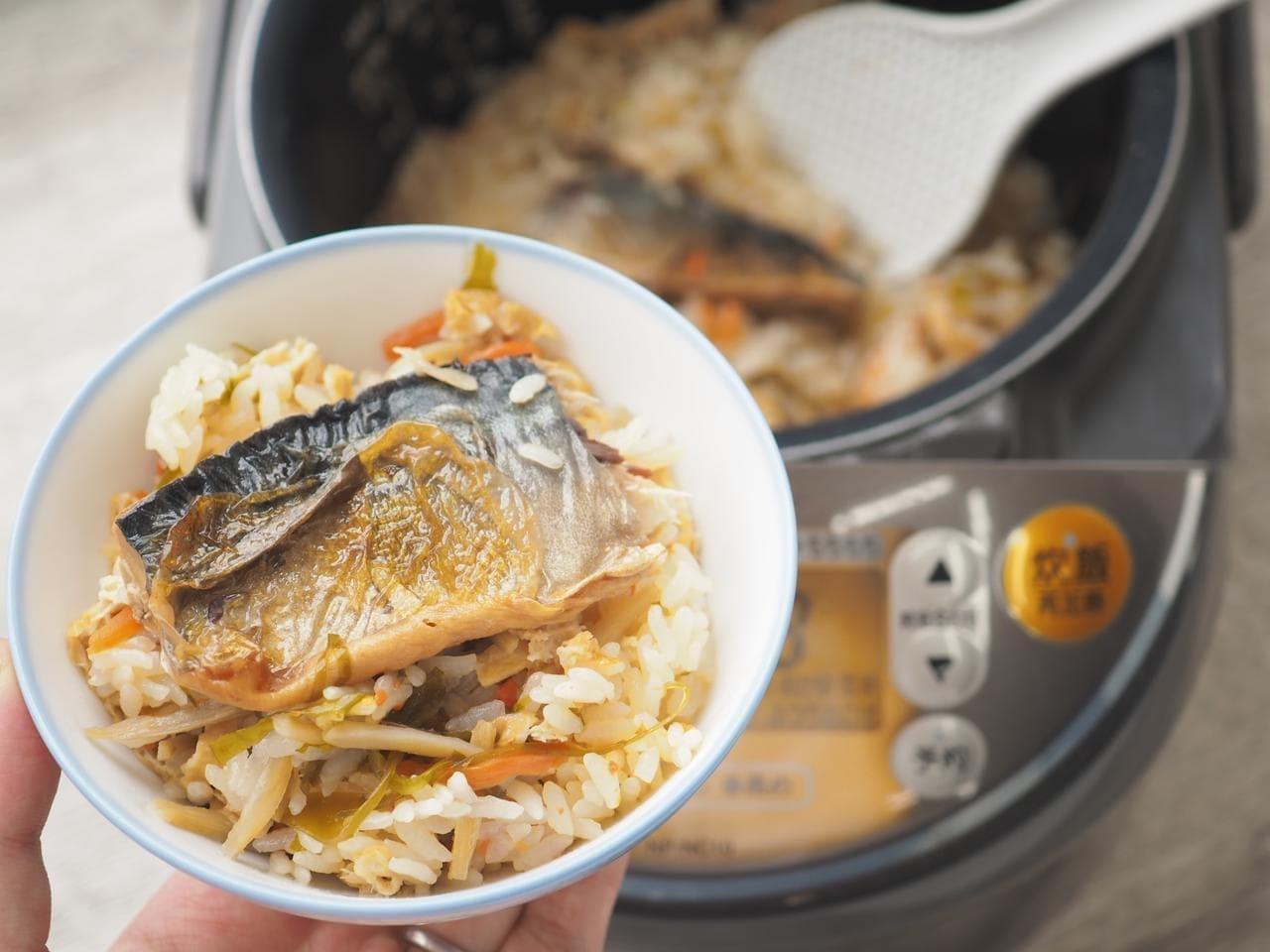 イトーヨーカドー「シェフズレシピ」の「炊き込みご飯の素(炙りさば)」で炊いたご飯