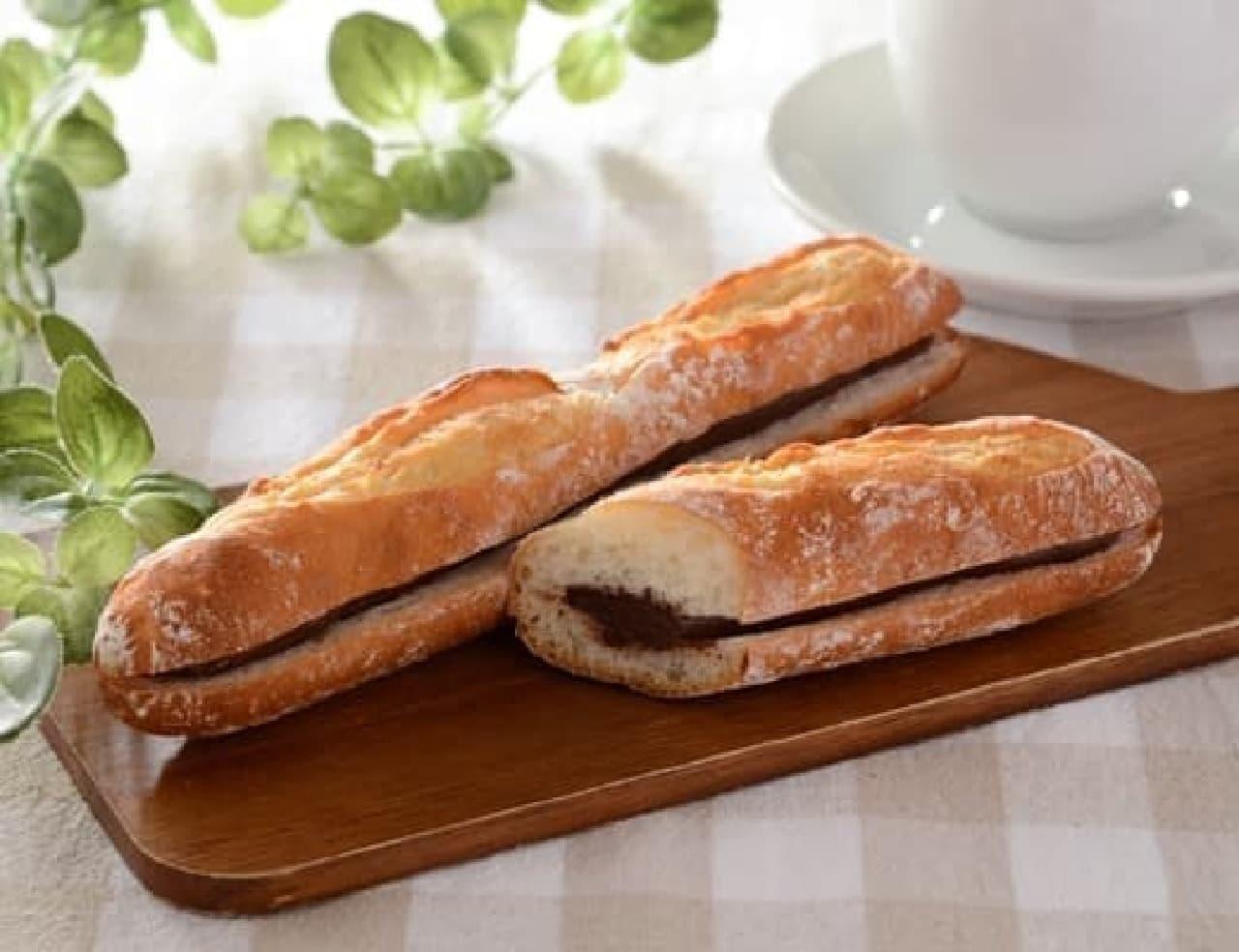 ローソン「マチノパン 芳醇チョコレートのフランスパン」