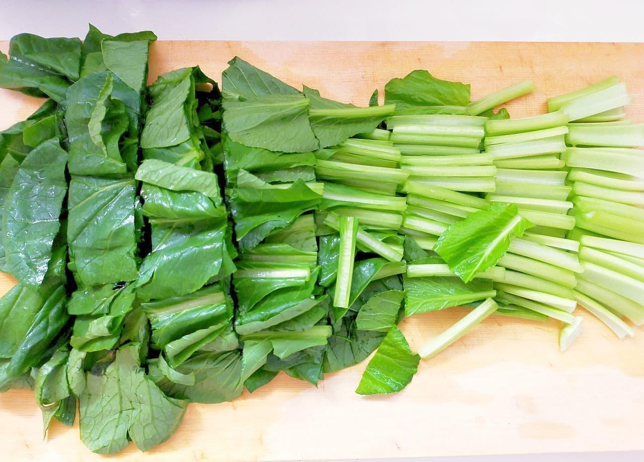 ステップ2 ほうれん草&小松菜の冷凍保存方法