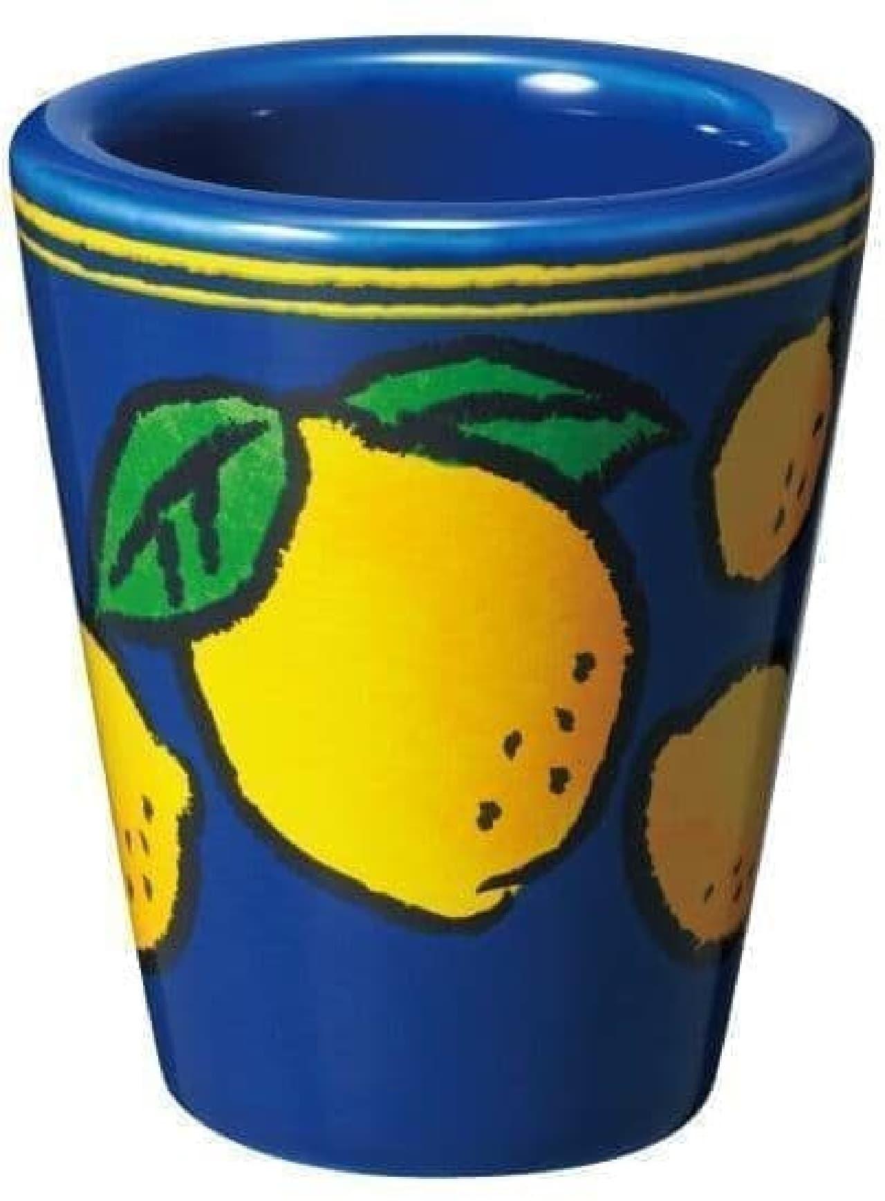 カルディ「リモンチェッロ」を買うともらえる陶器ショットグラス