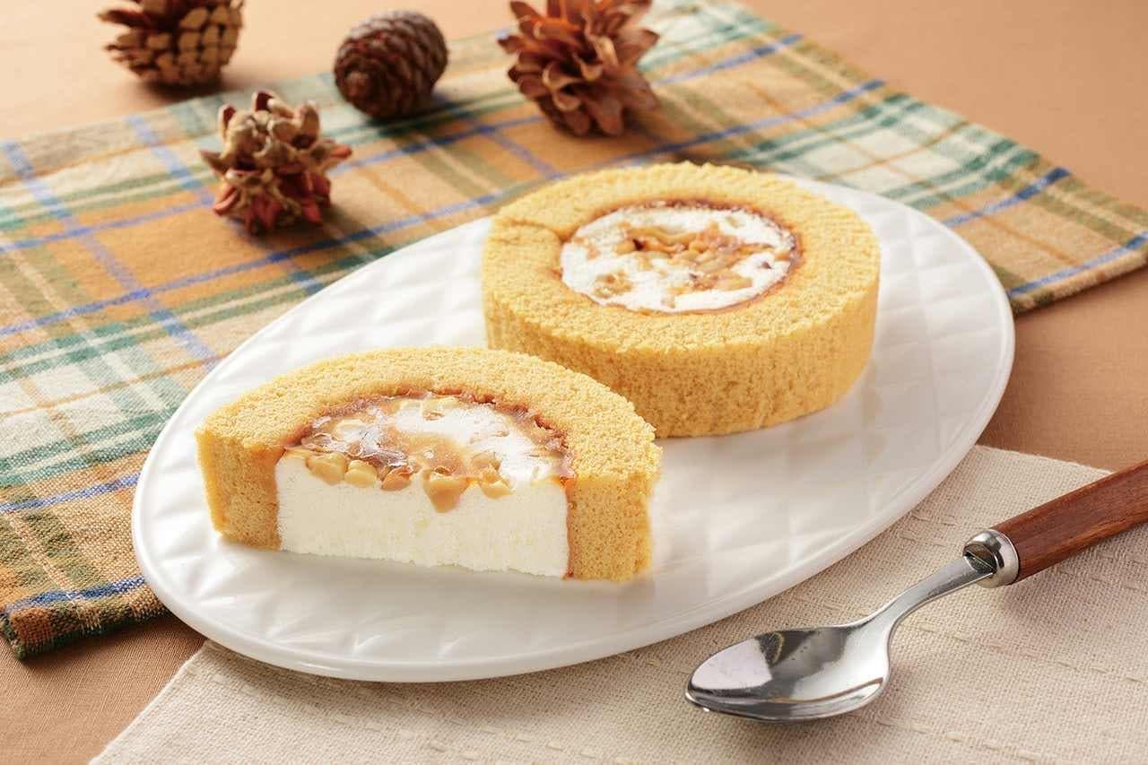 ローソン「メープルナッツのロールケーキ」