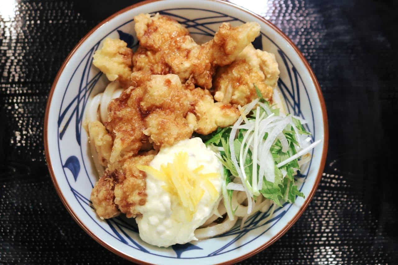 丸亀製麺の「タル鶏天ぶっかけうどん」