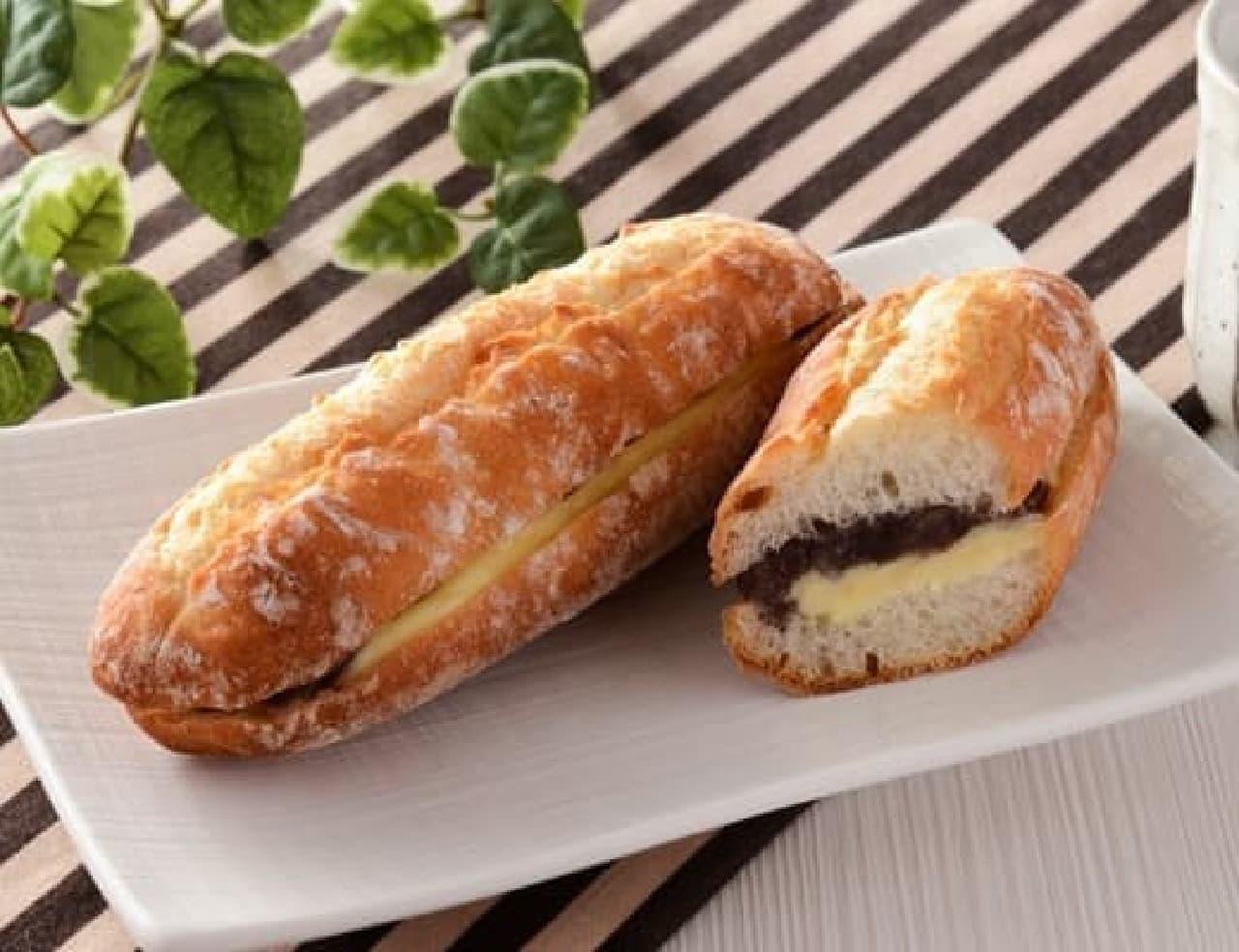 ローソン「マチノパン あんことバターのフランスパン」