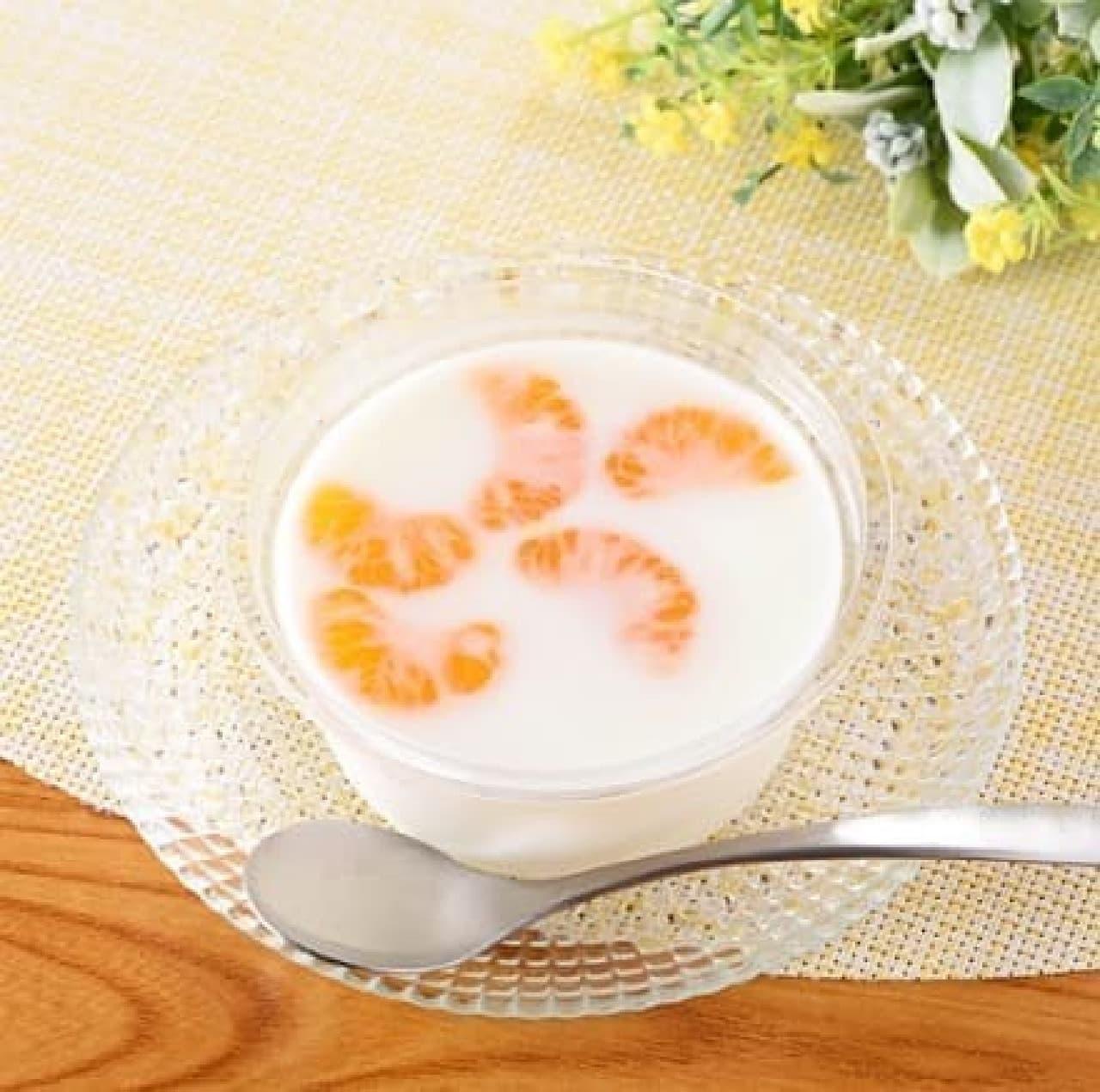 ファミリーマート「みかんの牛乳寒天」