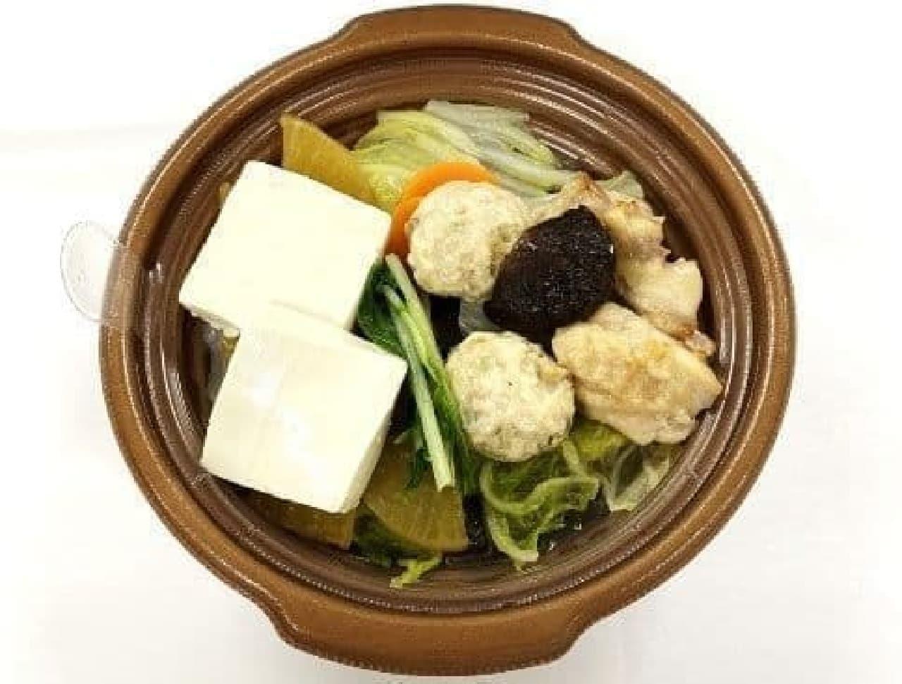 セブン-イレブン「1/2日分の野菜 鶏ちゃんこ鍋」