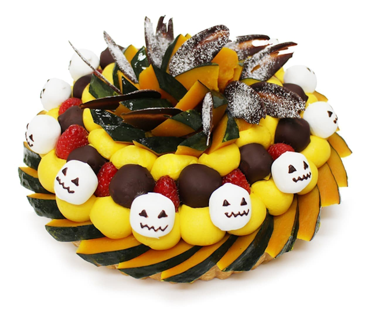 カフェコムサ「ハロウィンスカル~かぼちゃとマシュマロのケーキ~」
