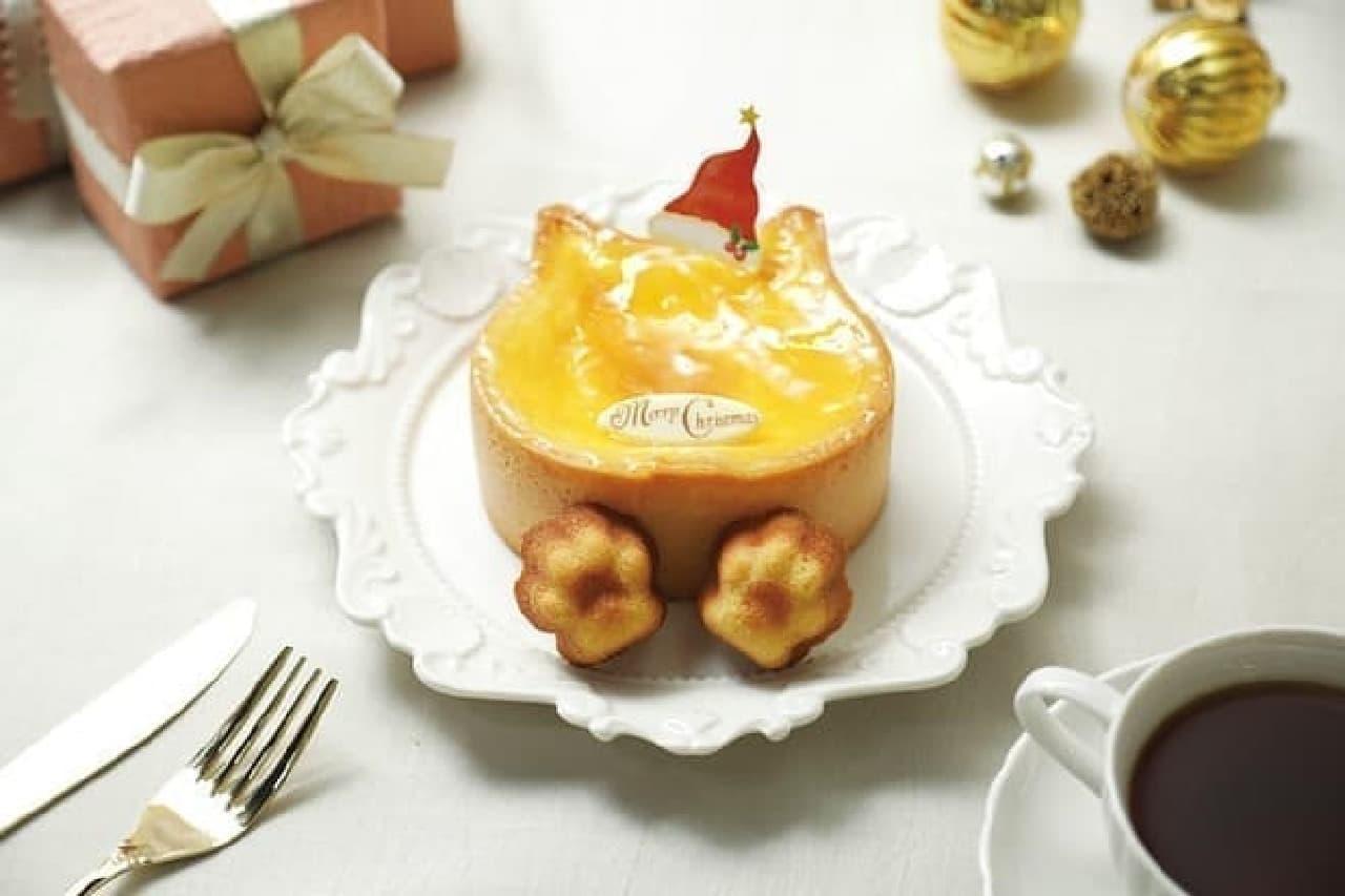 ねこねこチーズケーキ「Xmasねこねこチーズケーキ(にくきゅうマドレーヌ2個つき)」