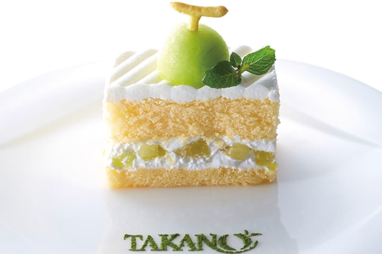 タカノフルーツバーに記念の「メロンのショートケーキ」