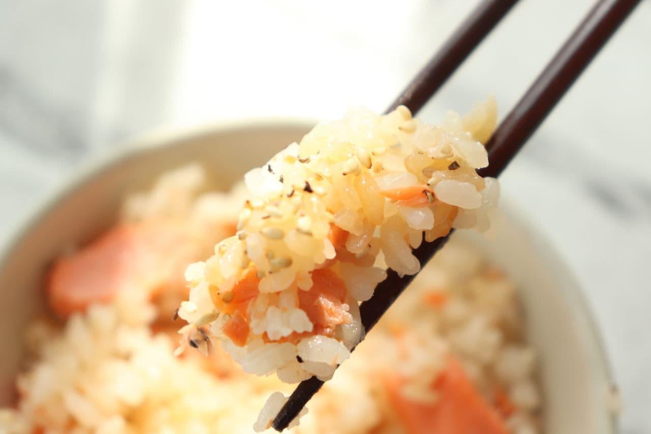 鮭のガーリックバター醤油炊き込みご飯