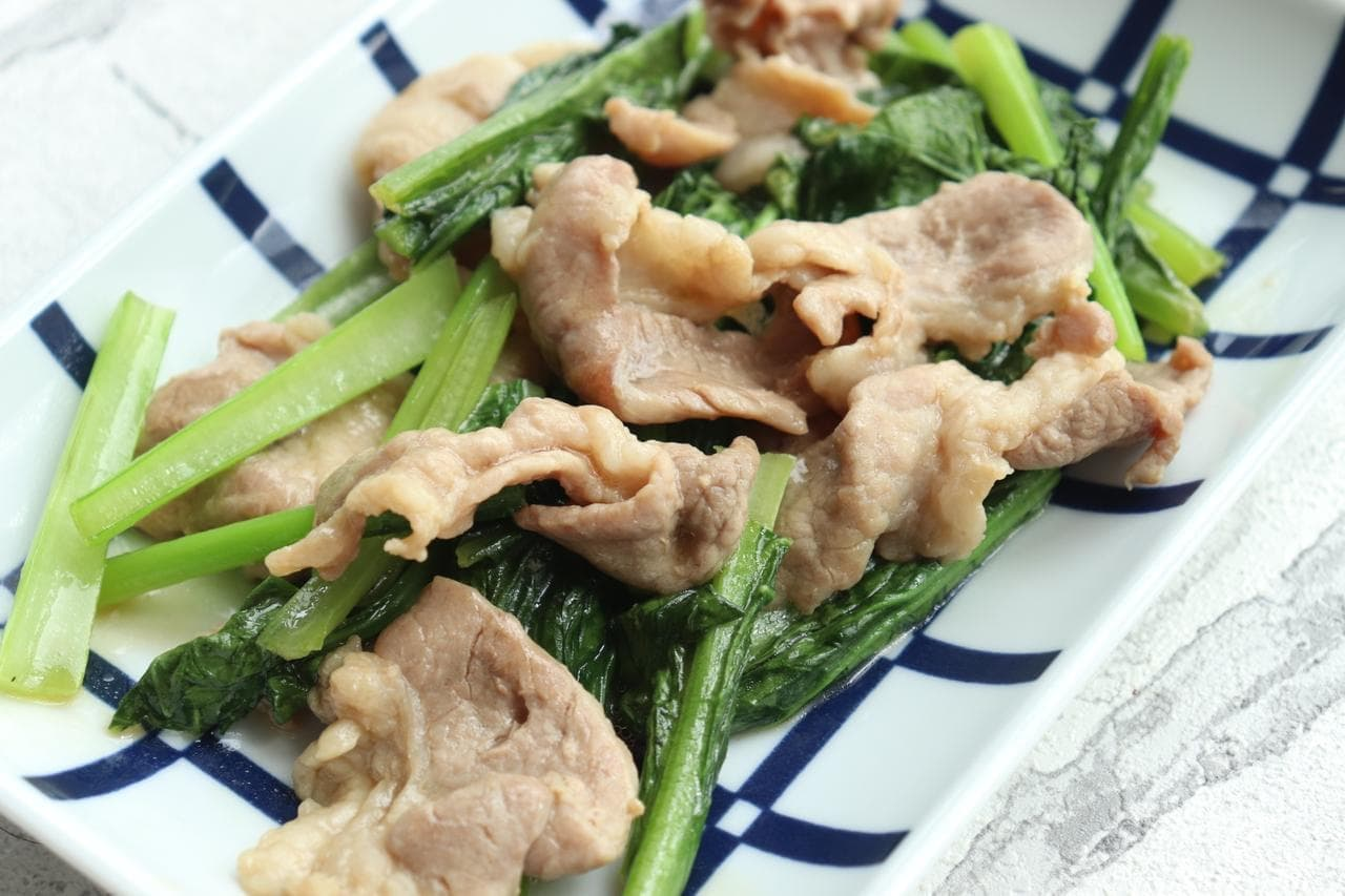 豚肉と小松菜の和風炒め