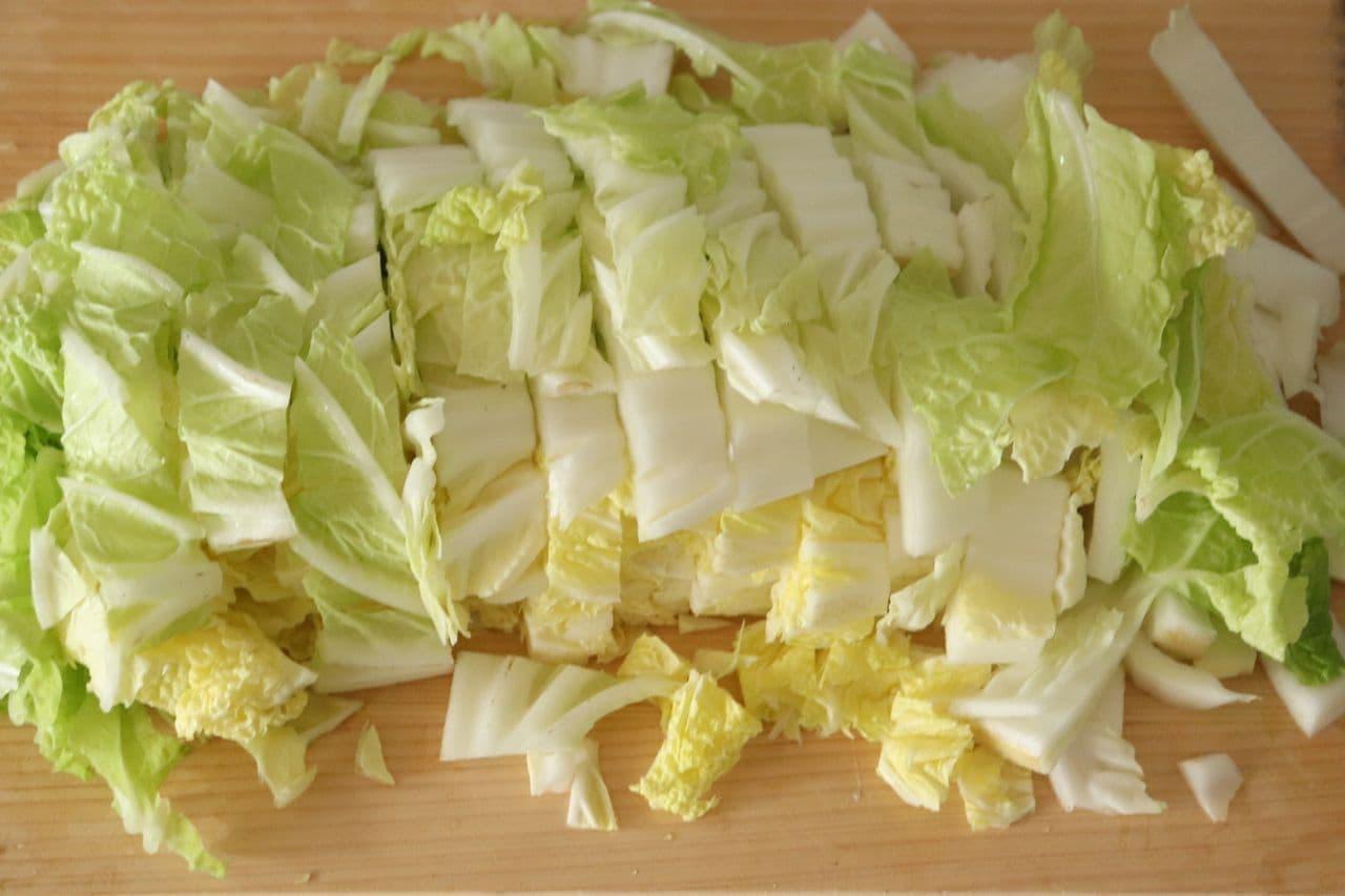 白菜のかつお節和え