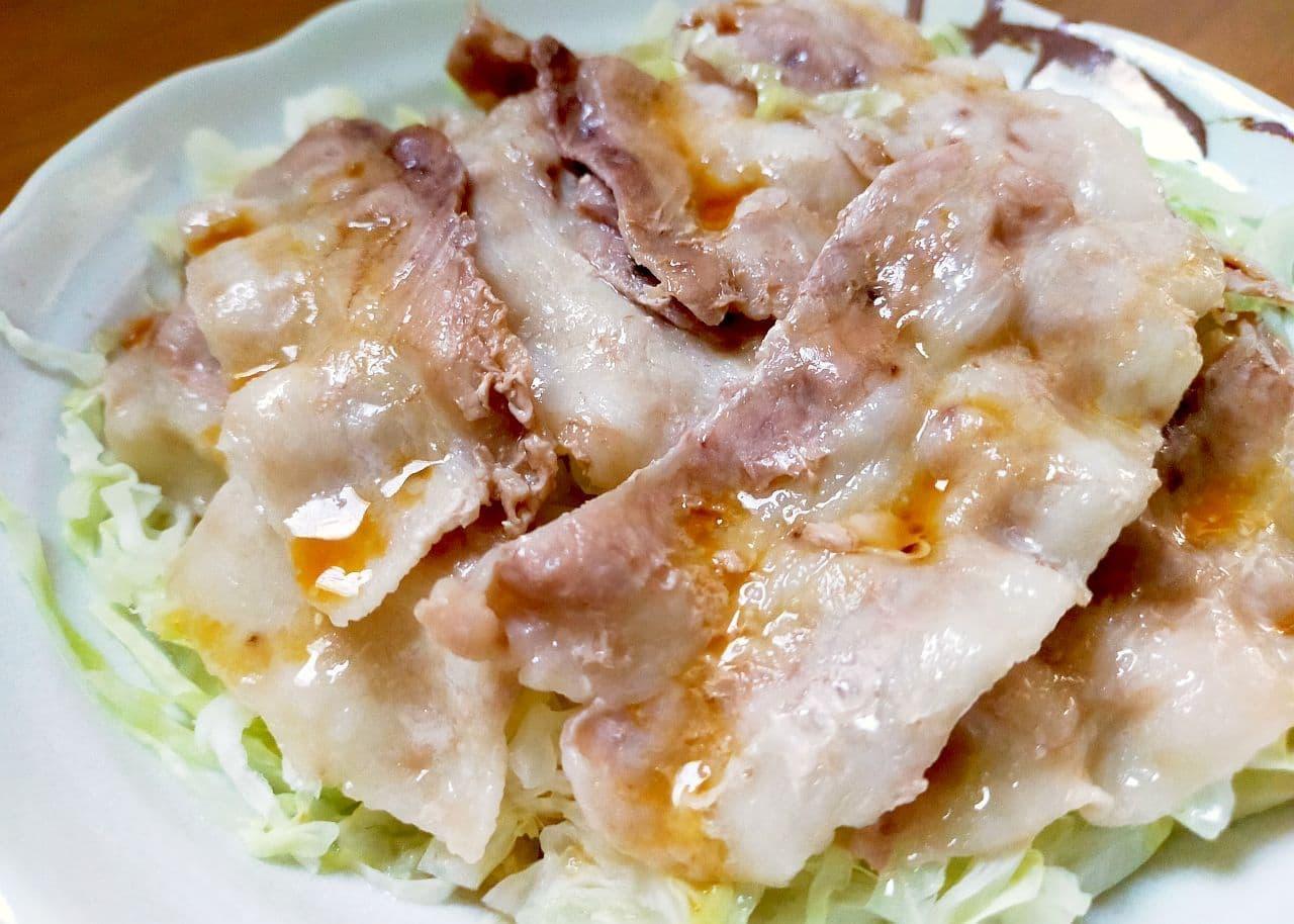 レンジで簡単「豚バラキャベツ」のレシピ