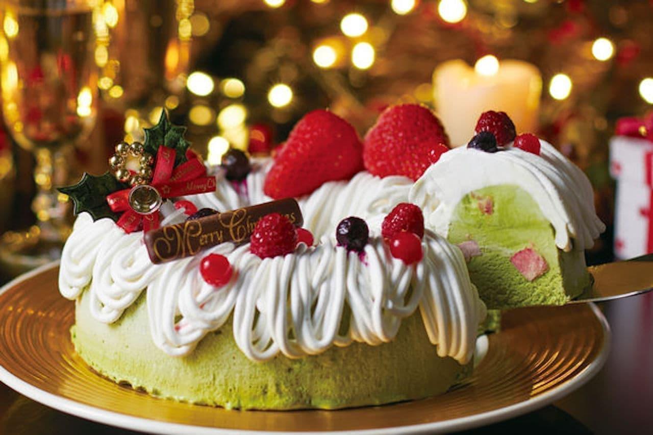 クリスマスケーキ「いちご抹茶アイスケーキ プレミアム」