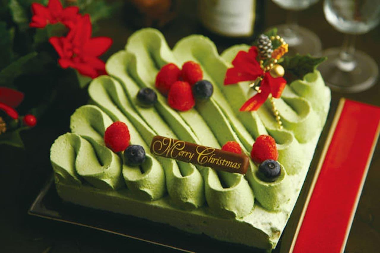 クリスマスケーキ「宇治抹茶チョコケーキ ショコラ・テ・ベール」
