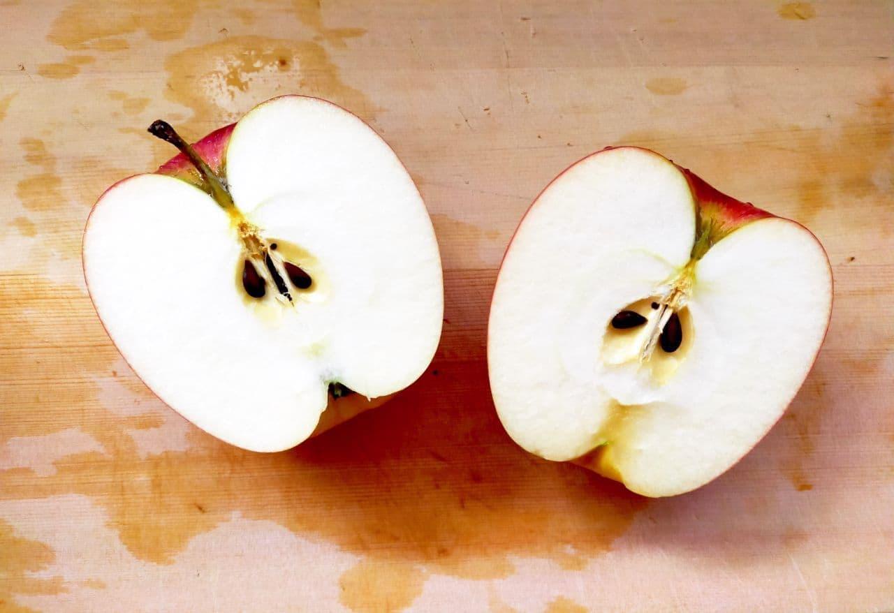 「焼きりんごバター&カマンベール」簡単レシピ