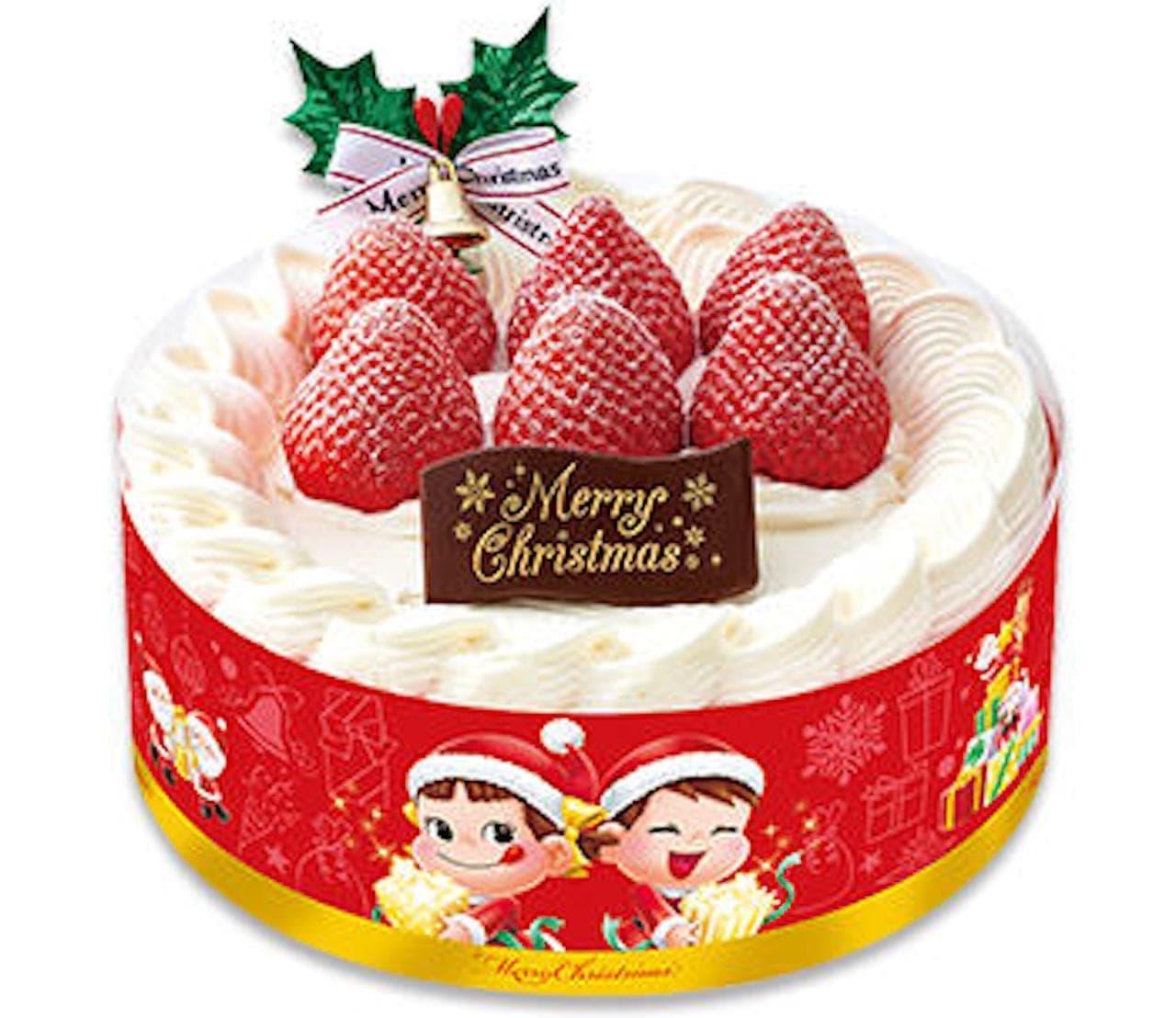 j不二家「あまおう苺のクリスマスショートケーキ」
