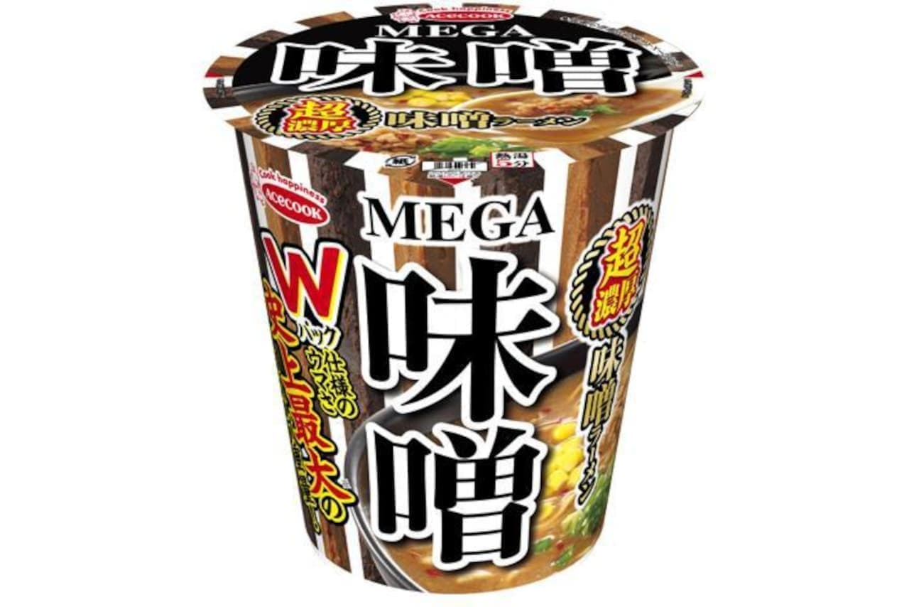 エースコック「MEGA 味噌 超濃厚味噌ラーメン」