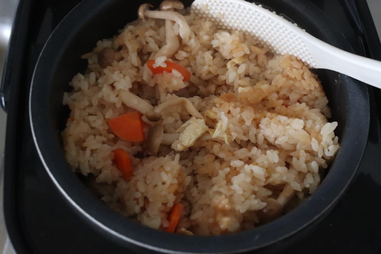 ポン酢炊き込みご飯