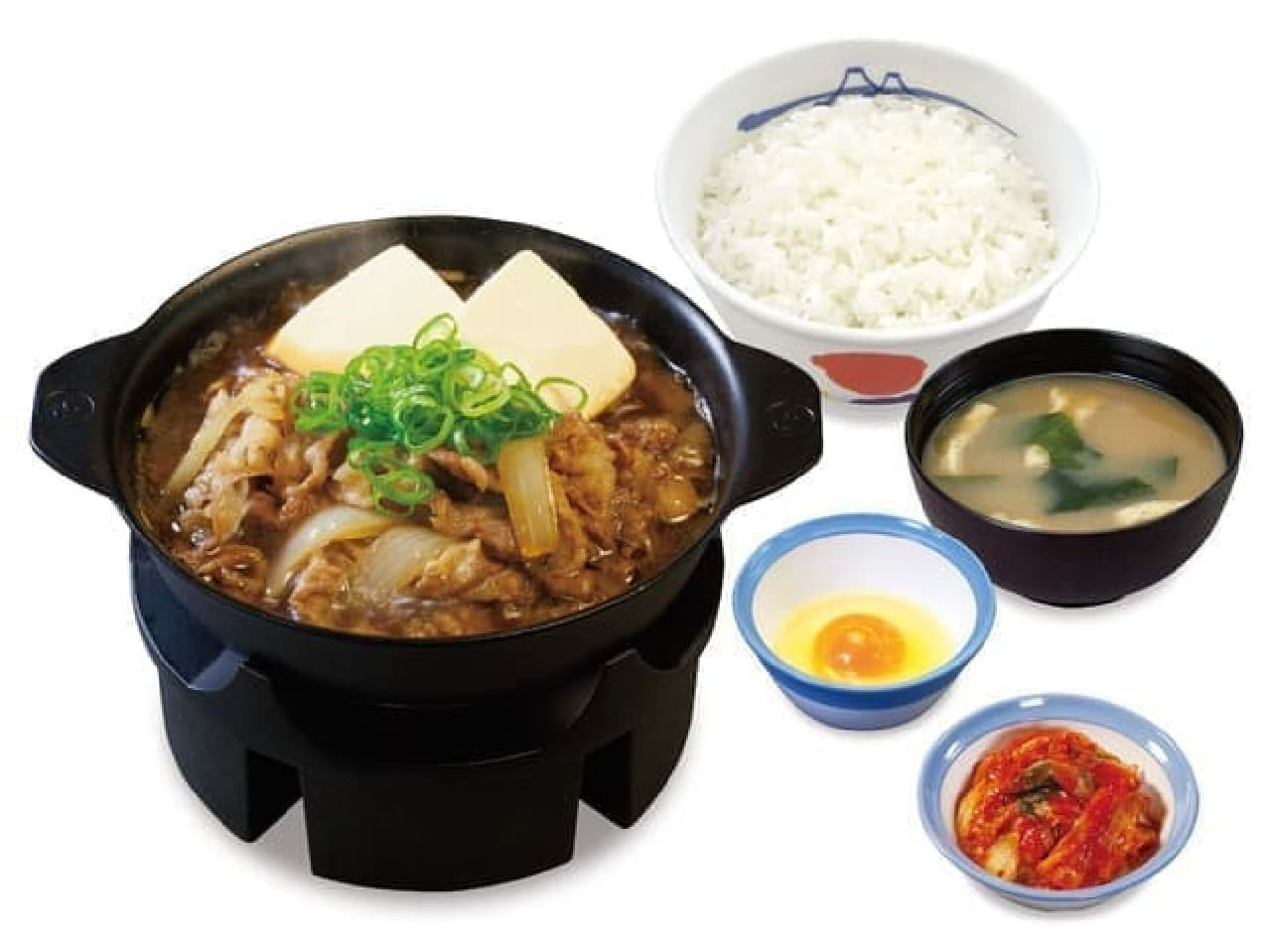 松屋「お肉たっぷり牛鍋膳」と肉量1.5倍の「お肉どっさり牛鍋膳」