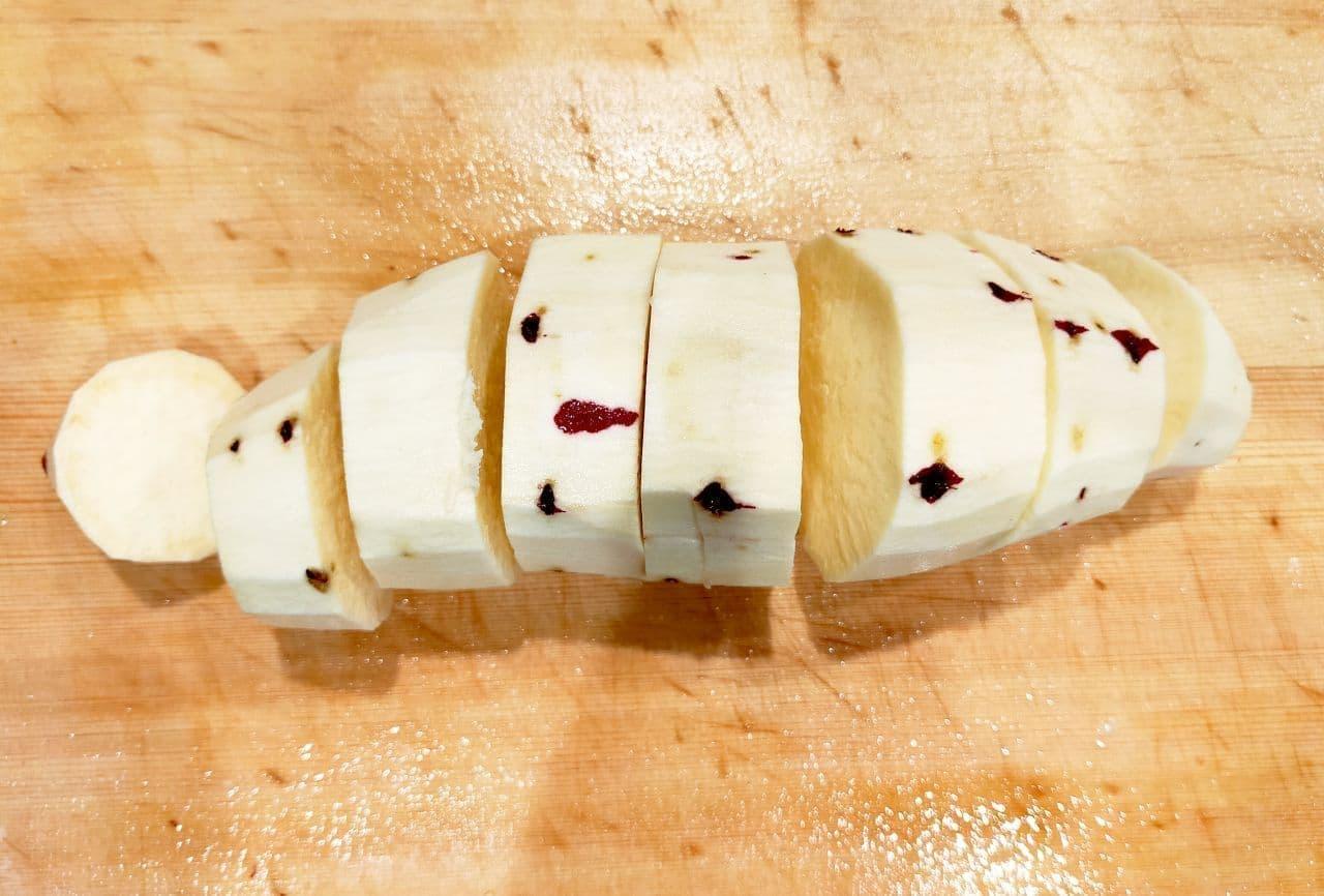 レンジで簡単スイートポテトのレシピ