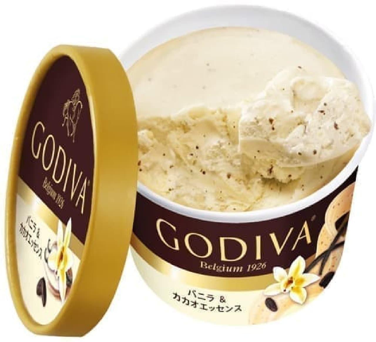 ゴディバ「カップアイス バニラ&カカオエッセンス」