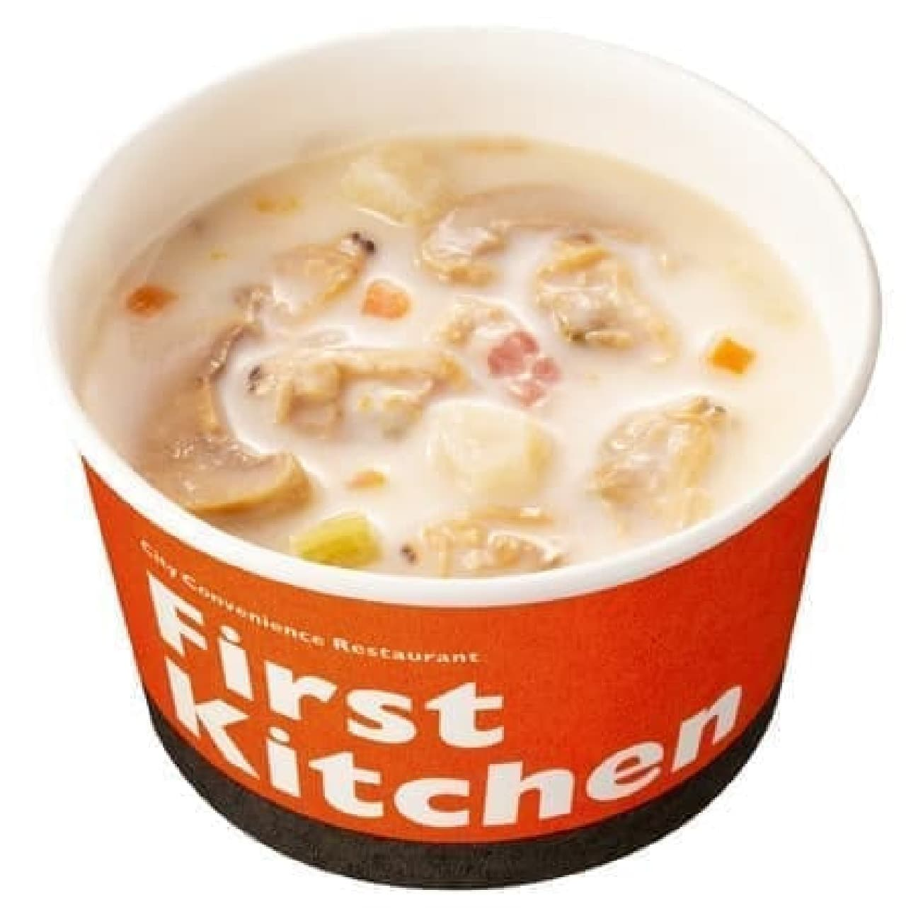 ファーストキッチン「8種の具材の豆乳クラムチャウダー」