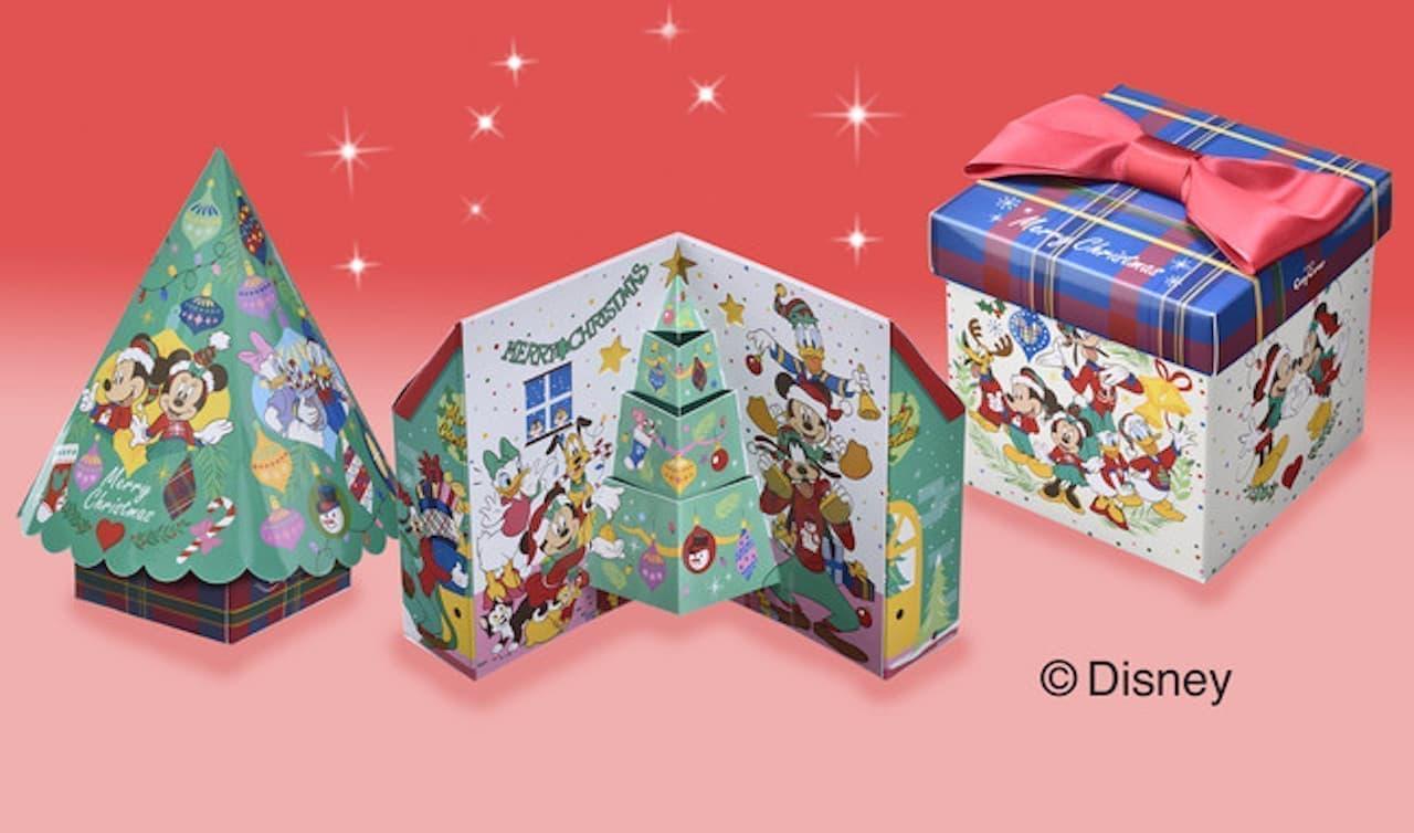 「ディズニーデザインのクリスマス限定スイーツギフト」銀座コージーコーナー