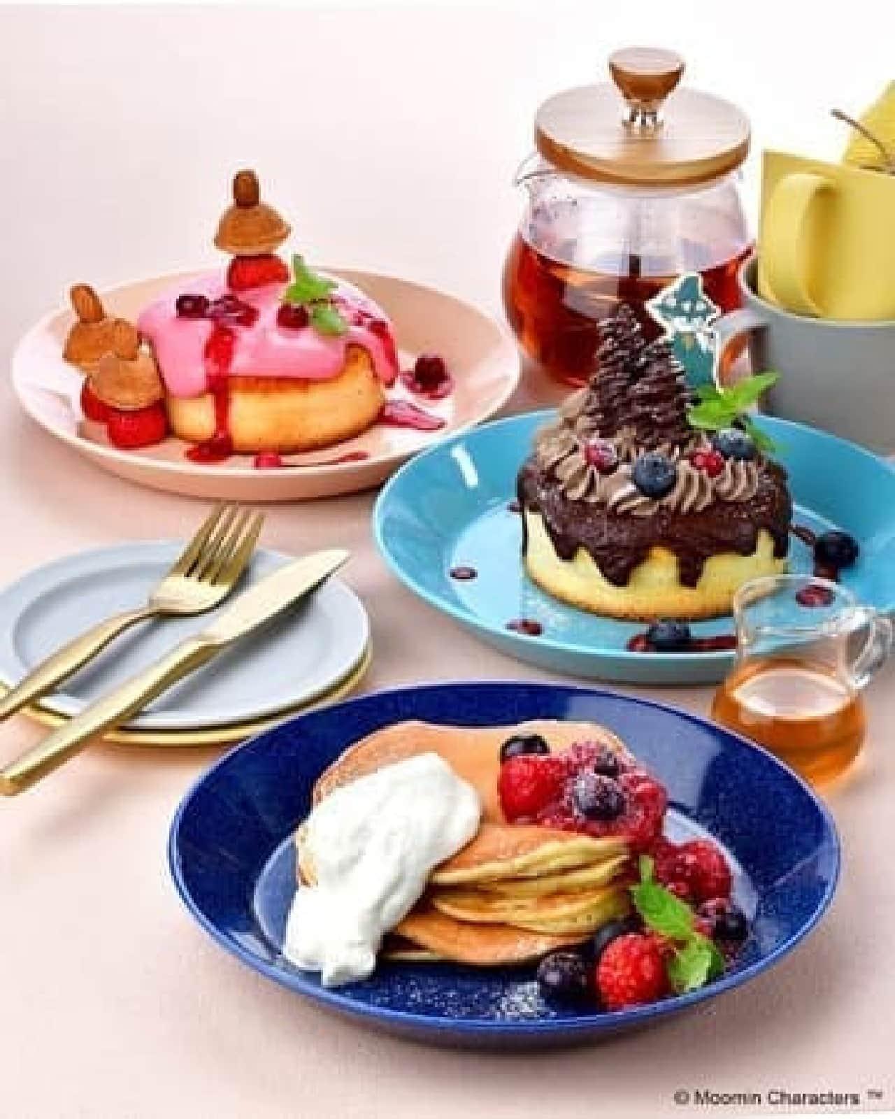 ムーミンカフェのパンケーキフェア