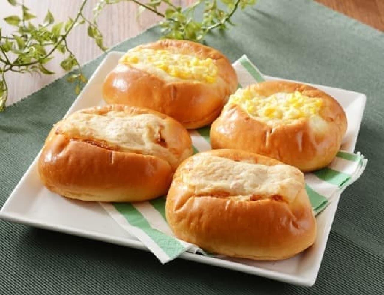 ローソン「ツナパンとコーンパン 4個入」