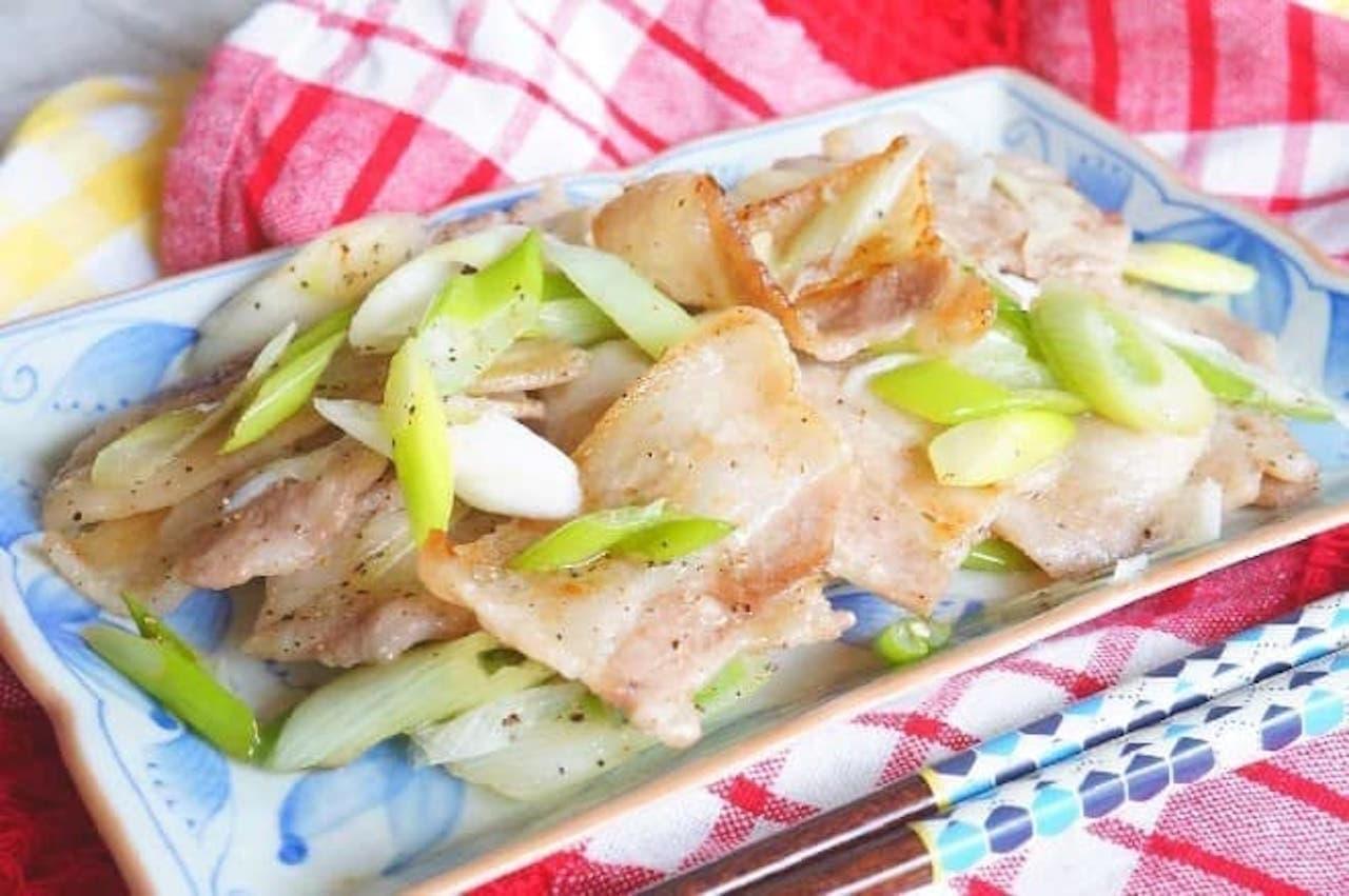レシピ「豚カルビのねぎ塩炒め」